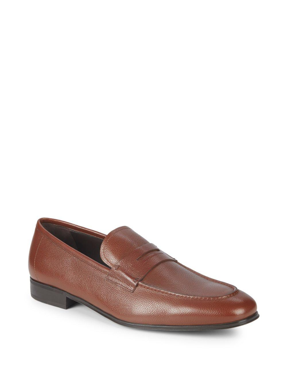 09810bc9a26 Lyst - Ferragamo Fiorino Leather Penny Loafers in Brown for Men