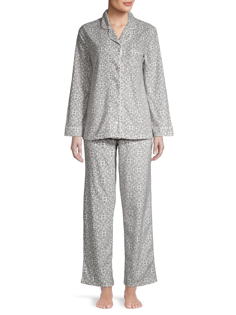 bf3f9c1731e2 Carole Hochman 2-piece Printed Pajama Set in Gray - Lyst