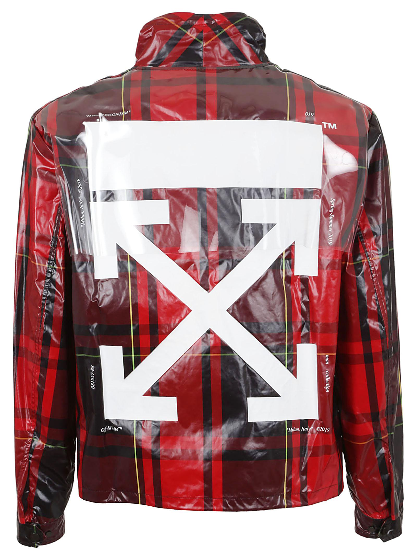 df6582973270 Off-White c o Virgil Abloh - Red Check Anorak for Men - Lyst. View  fullscreen