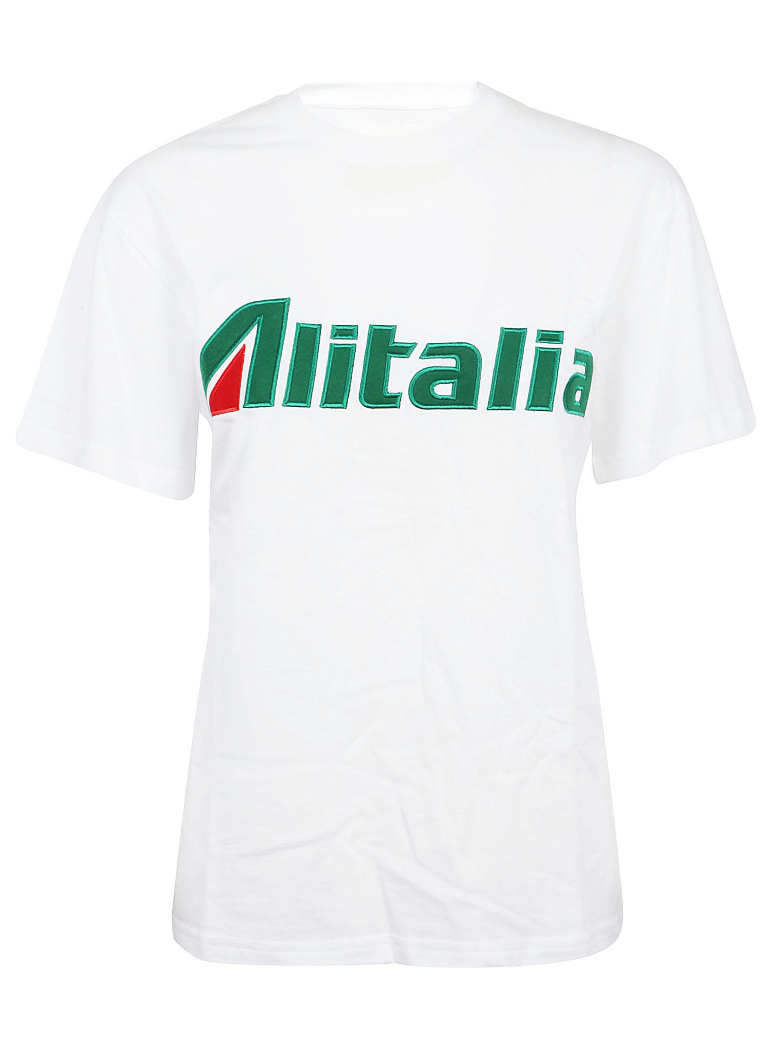 Alitalia patch T-shirt - White Alberta Ferretti Clearance Excellent Limited Edition For Sale Get Authentic Cheap Price Discount Footlocker Finishline 1vc9SIcx