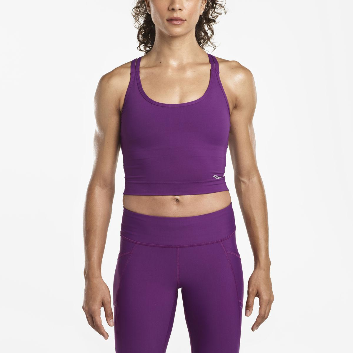 fe7ce79b586a0 Saucony Impulse Crop Top in Purple - Lyst