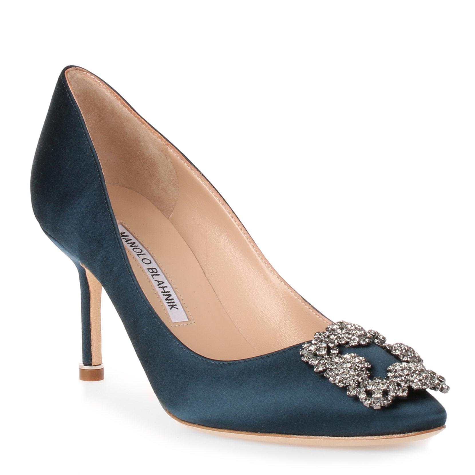 Manolo Blahnik Satin Buckle-Accented Pumps fashion Style cheap price original online sale cheap price t6gbBKz