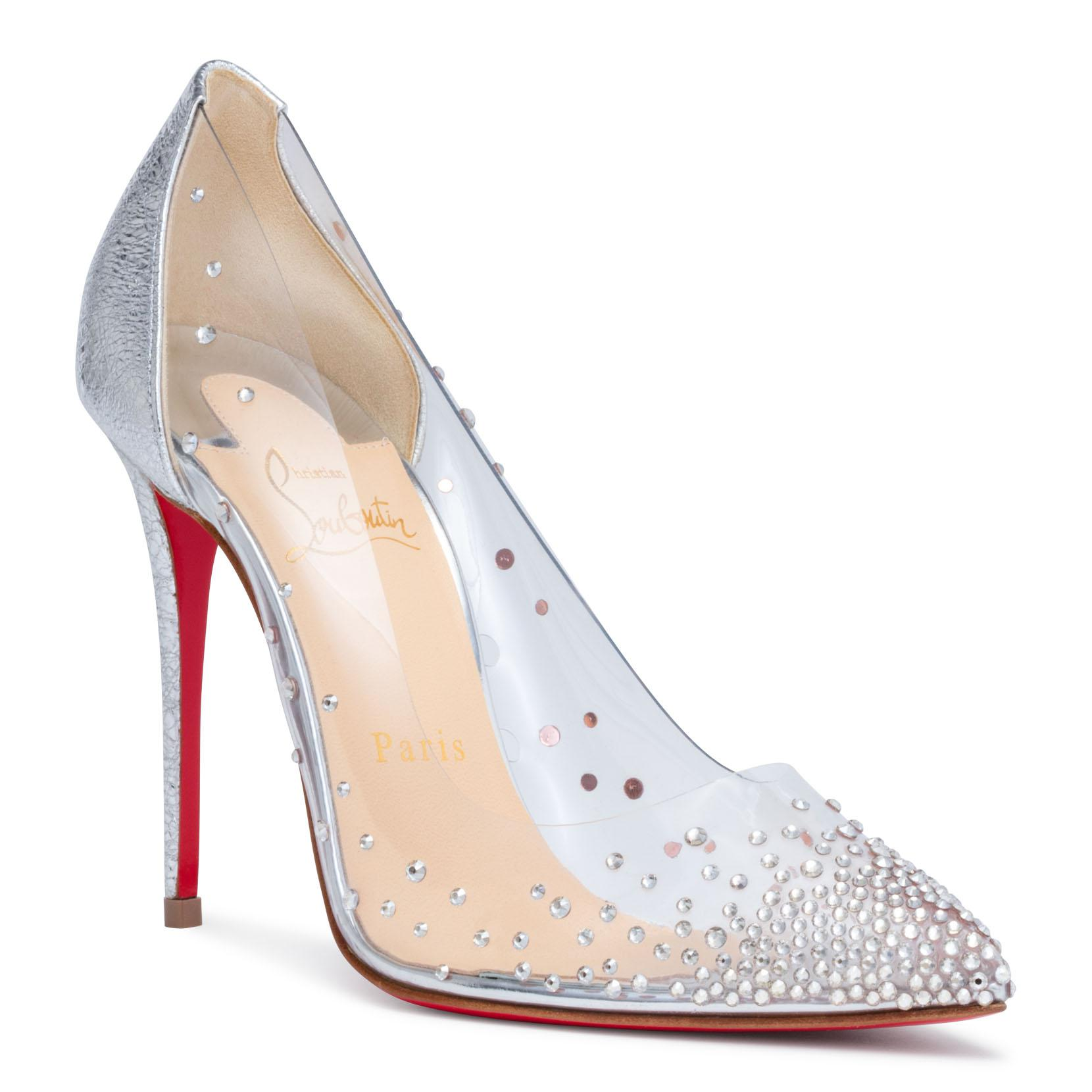 625feada4ad Lyst - Christian Louboutin Degrastrass 100 Silver Patent Pumps in ...
