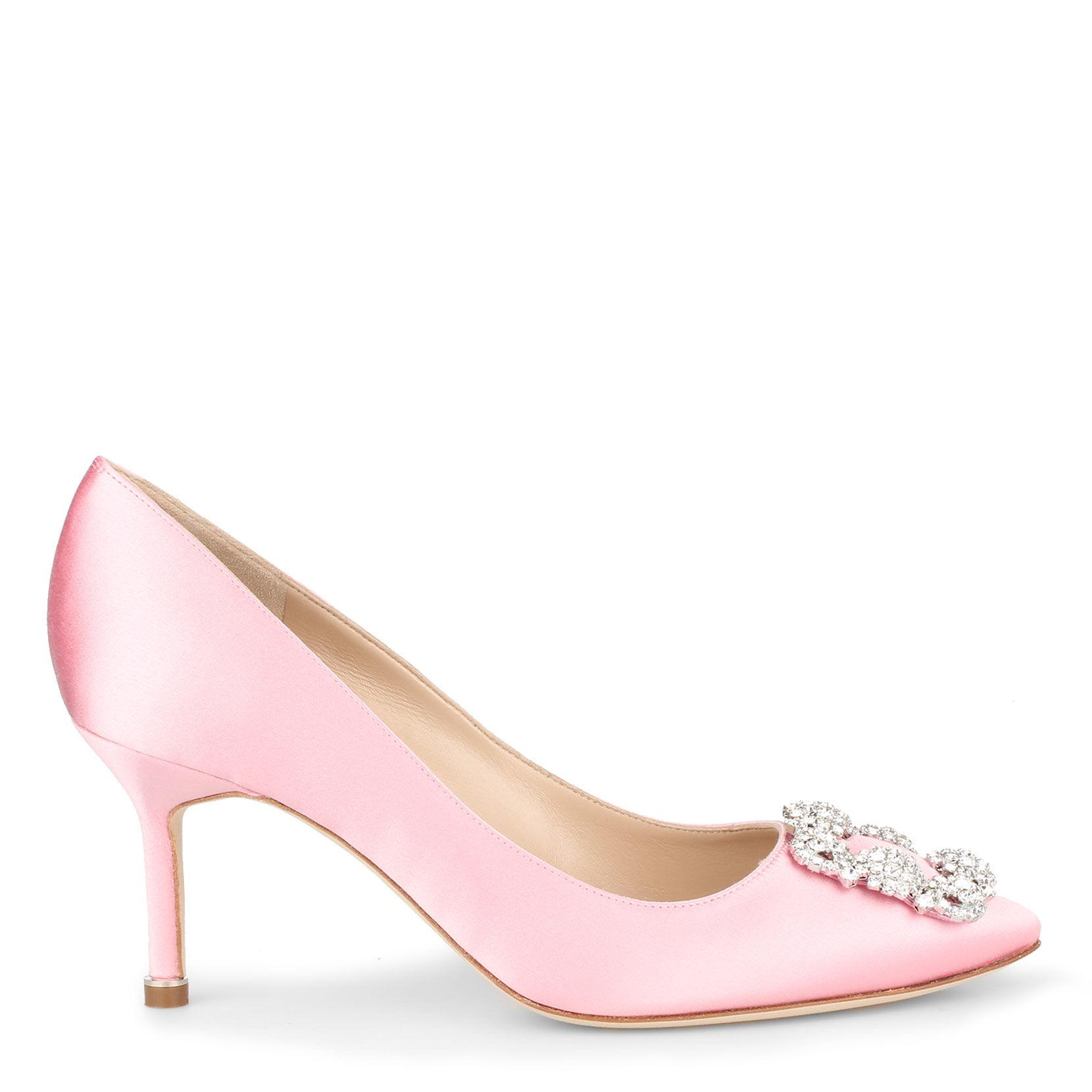 ec87e8bf97e1 Manolo Blahnik - Hangisi 70 Satin Pump Light Pink - Lyst. View fullscreen
