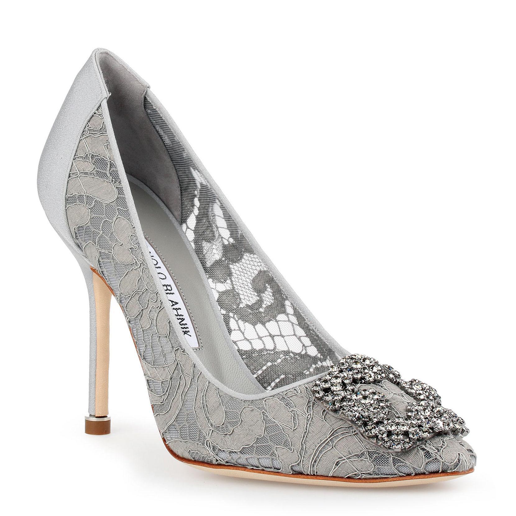 Hangisi 105 grey lace pump Manolo Blahnik A7jZT
