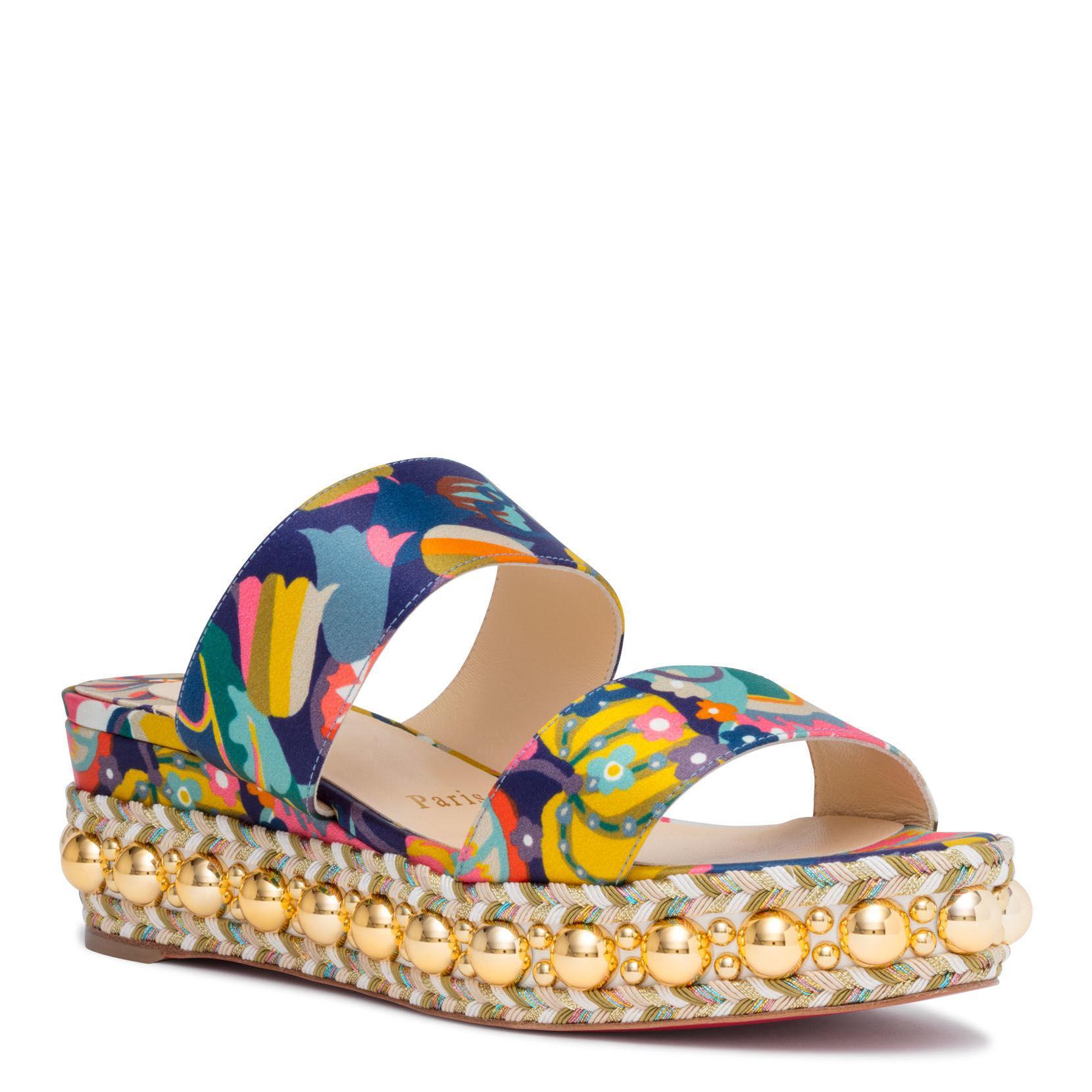 bcbe599f68bc4 Women's Blue Janitag 60 Satin Multicolor Sandals