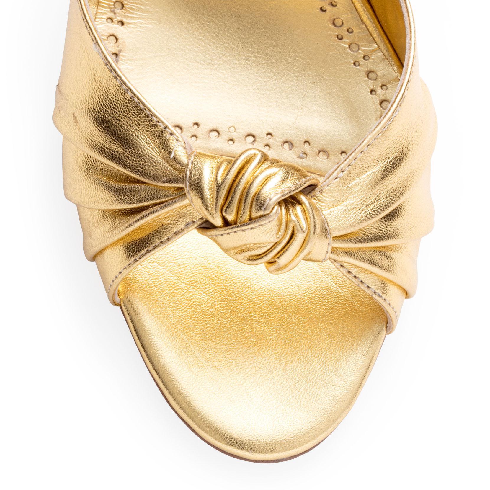 Mumuyesli 70 nappa light gold sandal Manolo Blahnik 8ux9lmAg