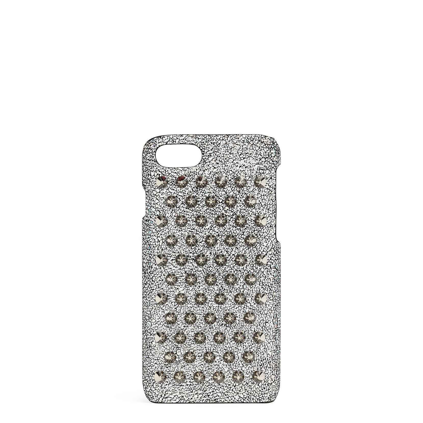 6cea8fc9a93 Lyst - Christian Louboutin Loubiphone 7 And 8 Silver Spikes Iphone ...
