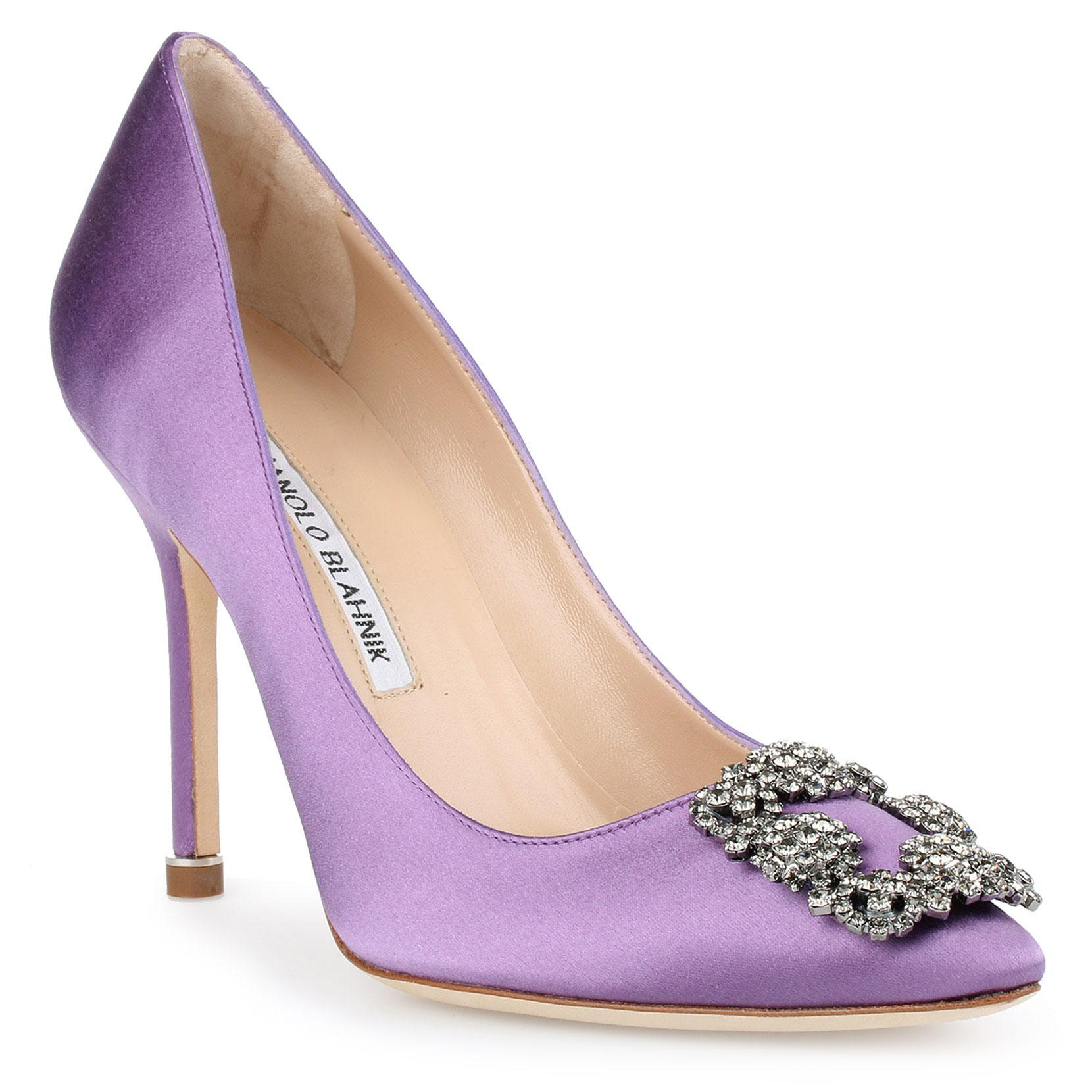 Hangisi 105 violet satin pump Manolo Blahnik Comfortable Cheap Price Yj17bAa