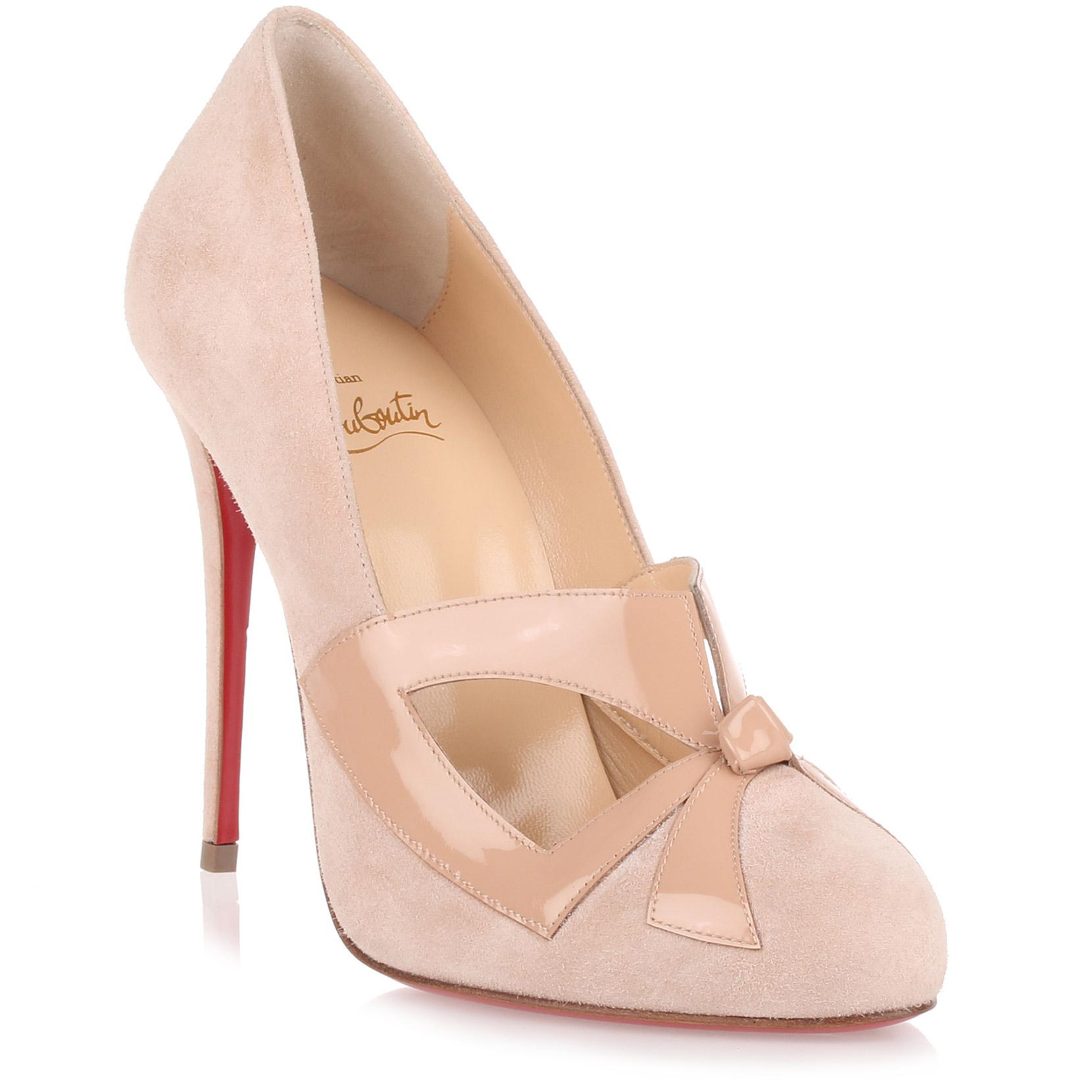 Bow Me Dear powder suede pump Christian Louboutin sUVQ36uMPN
