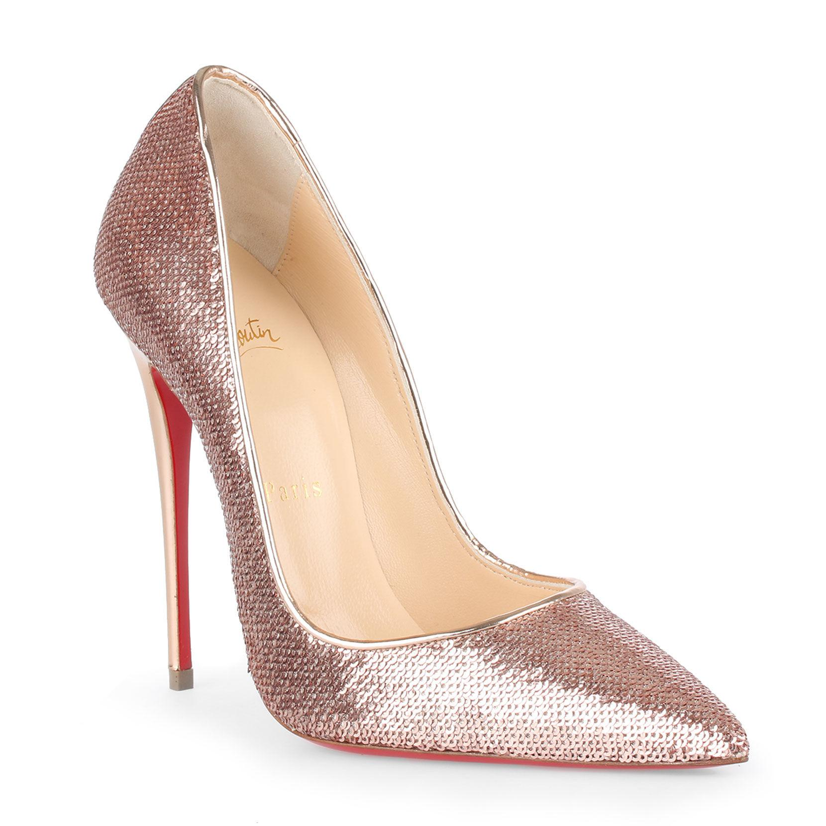 97d09a382fe3 Lyst - Christian Louboutin So Kate 120 Blush Sequin Pumps in Pink