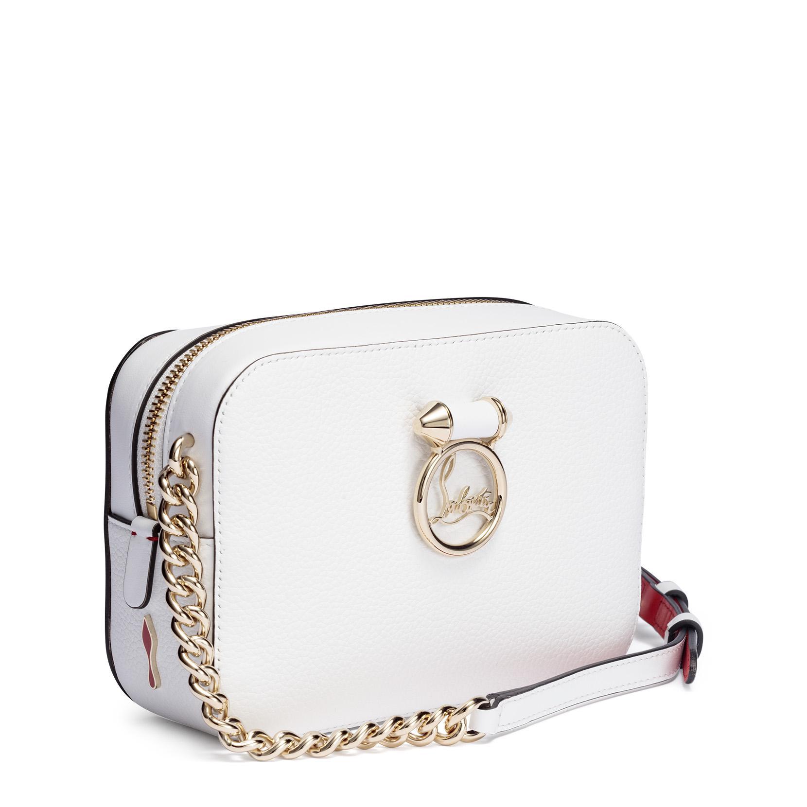 Christian Louboutin Rubylou mini white leather bag 2R0HqJ71i
