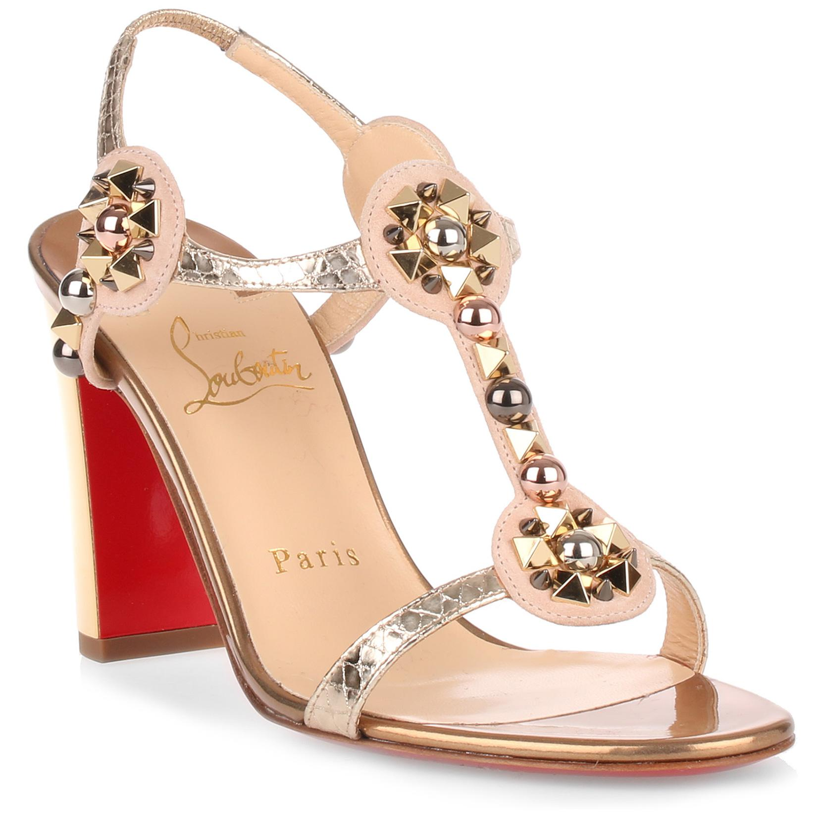 Christian Louboutin Kaleitop Metallic Sandals best seller for sale cheap how much outlet pay with visa quality free shipping low price cheap high quality yIO9Kq