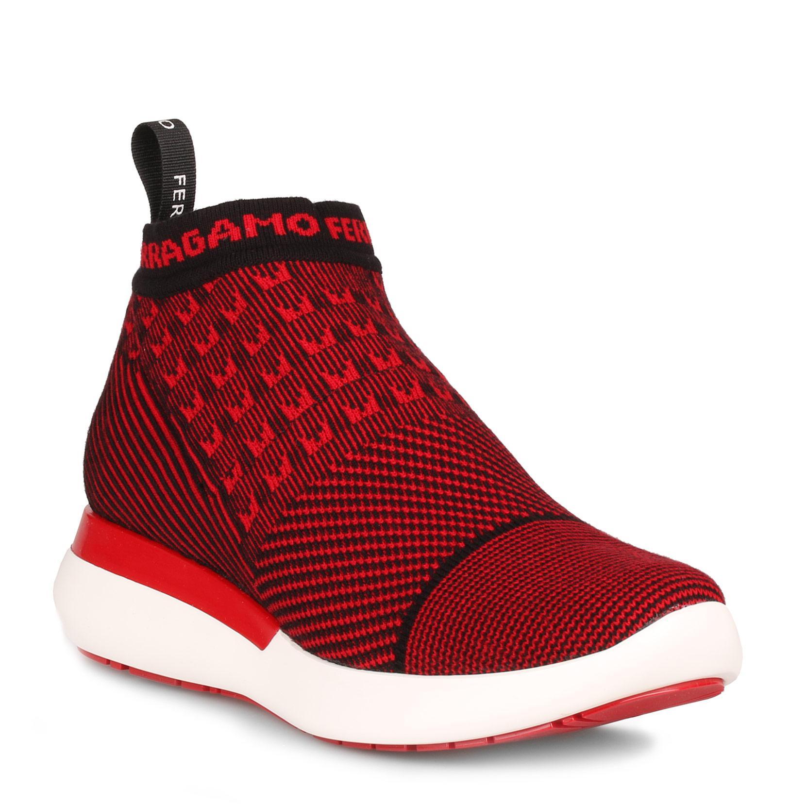 Caprera red stretch sneaker Salvatore Ferragamo JWvsOjd