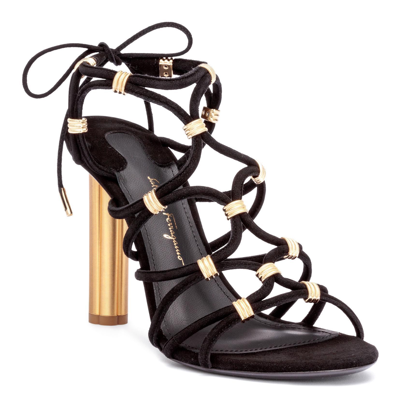 Fiuggi 105 black suede sandals Salvatore Ferragamo For Sale Discount Sale g3rMByxI7e