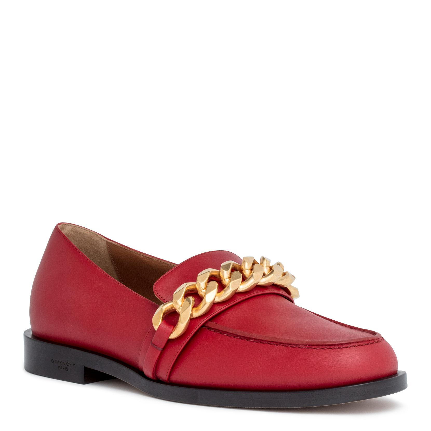 Red leather chain loafer Givenchy 0Wxiid2P