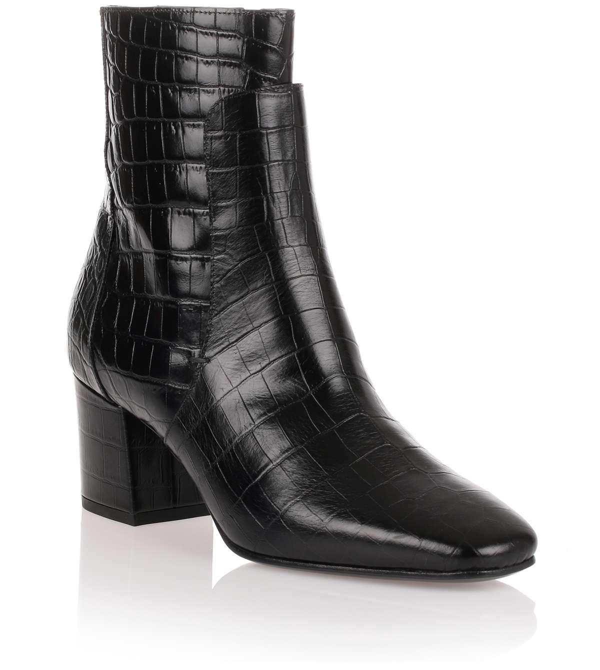 Givenchy Bottes Embossé Effet Crocodile - Noir ztOiuAx6w7