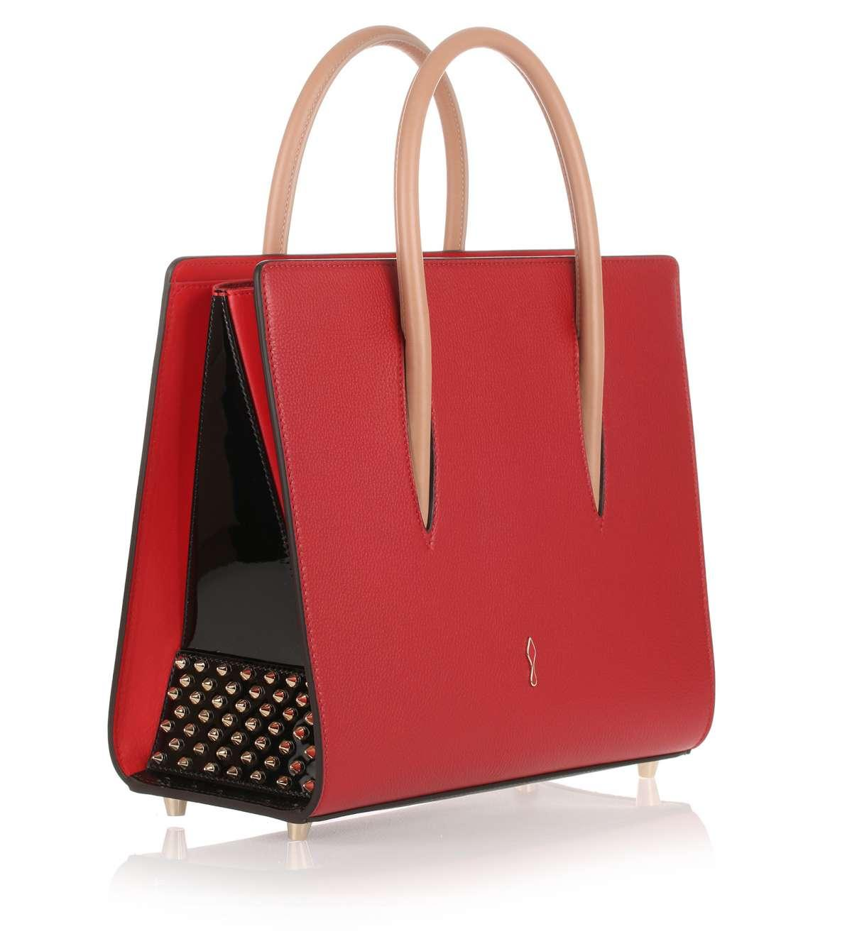 Lyst Christian Louboutin Paloma Medium Red Leather Bag Us In Red