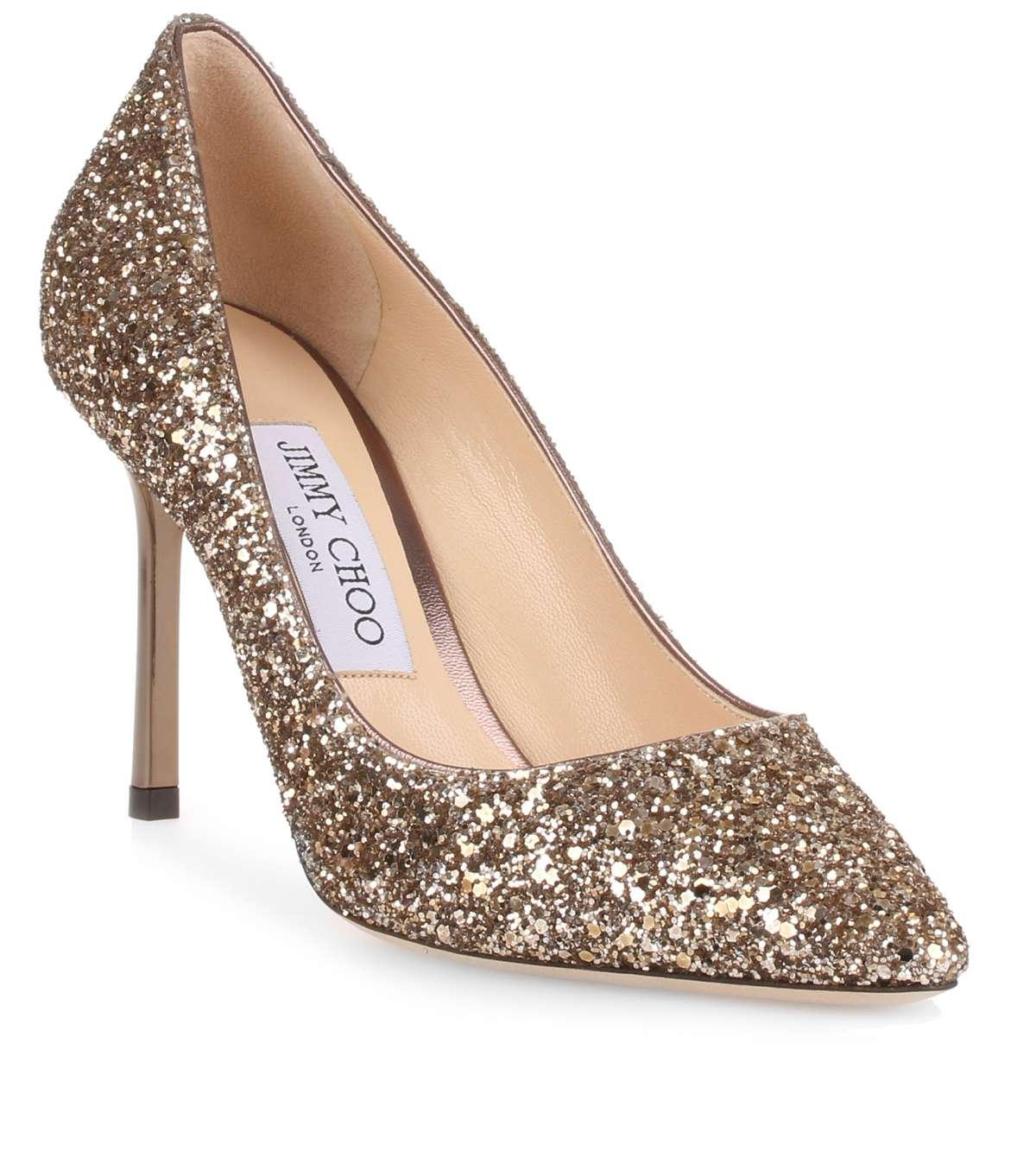 09f7d24819ce98 Gallery. Previously sold at  Savannahs · Women s Jimmy Choo Glitter ...