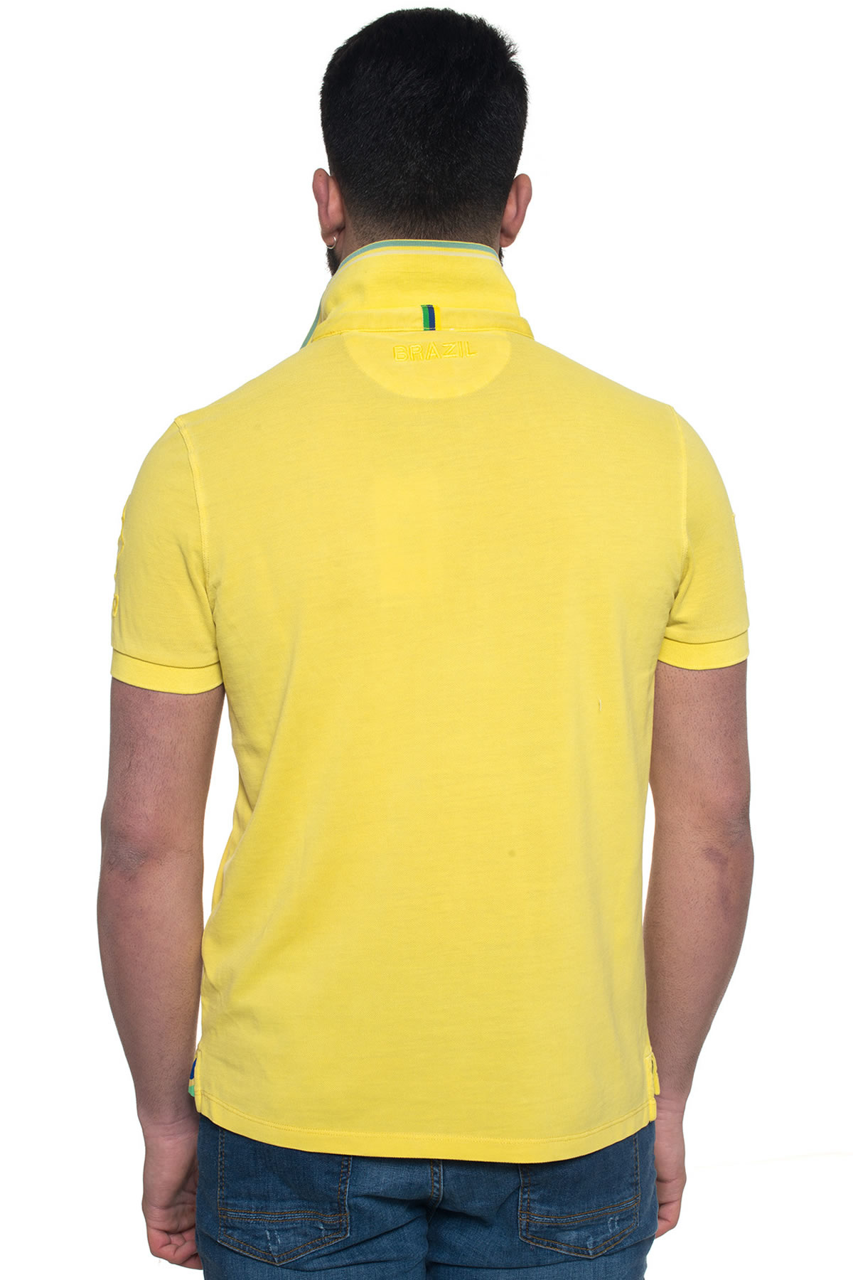 u s polo assn brazil polo shirt in yellow for men lyst. Black Bedroom Furniture Sets. Home Design Ideas