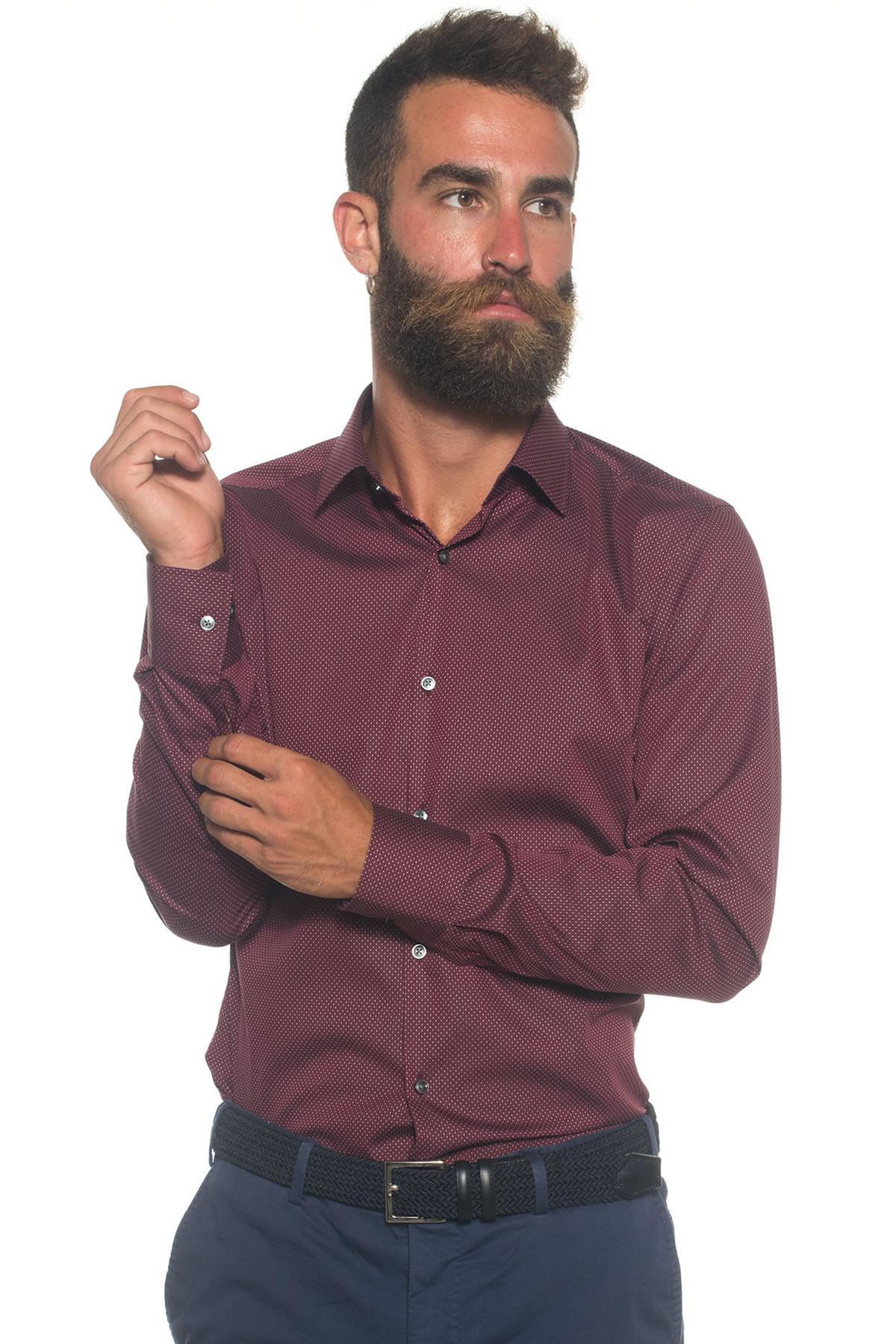 Lyst Boss By Hugo Boss Casual Shirt In Purple For Men