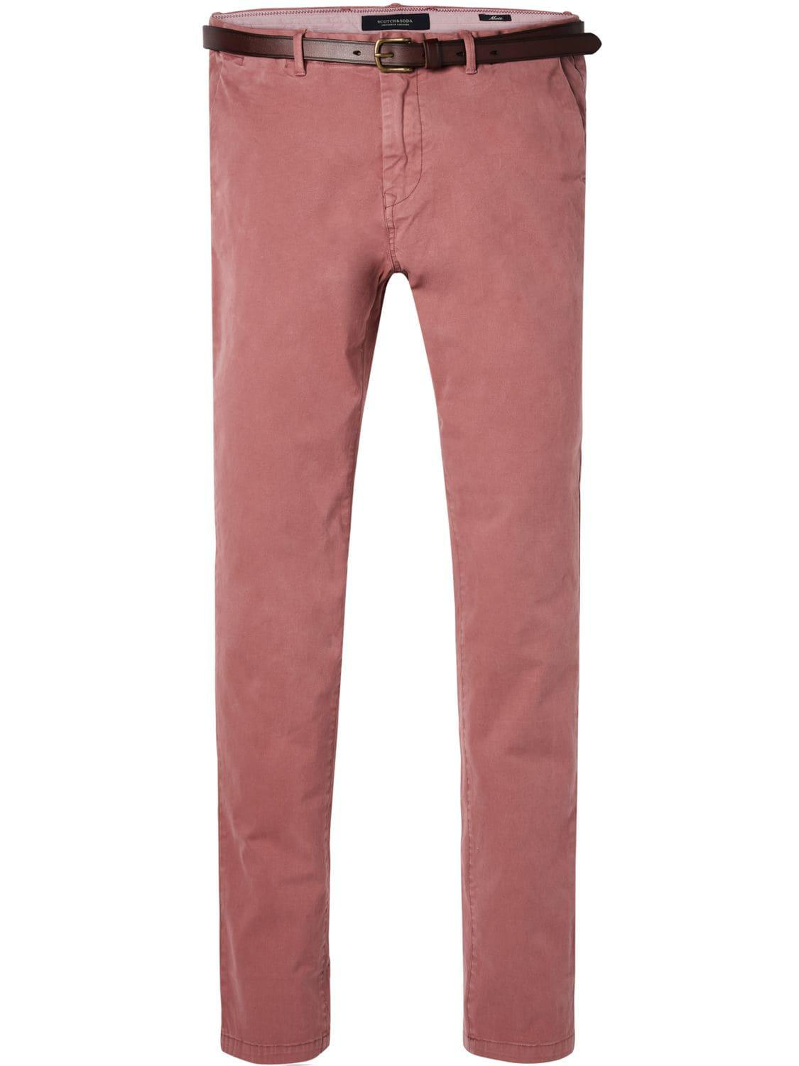 Hommes Mott-stretch Chinos De Coton Pantalon Décontracté Scotch & Soda w4OWym2Ts