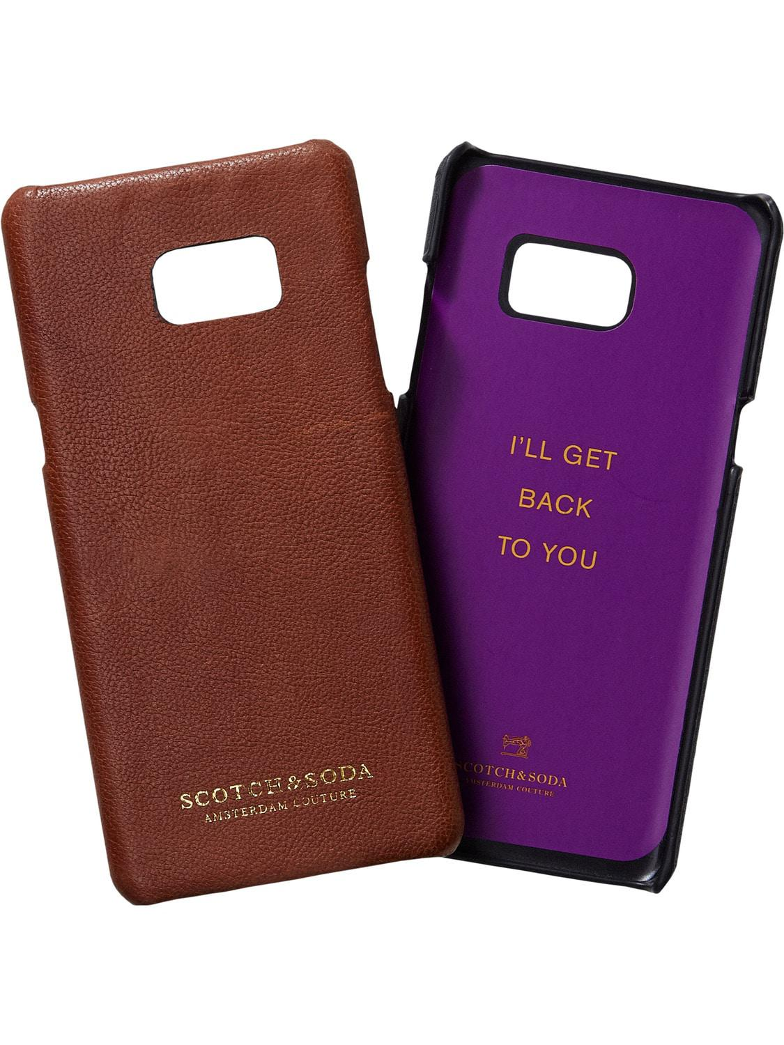 Leather Passport Case - violet sweater by VIDA VIDA