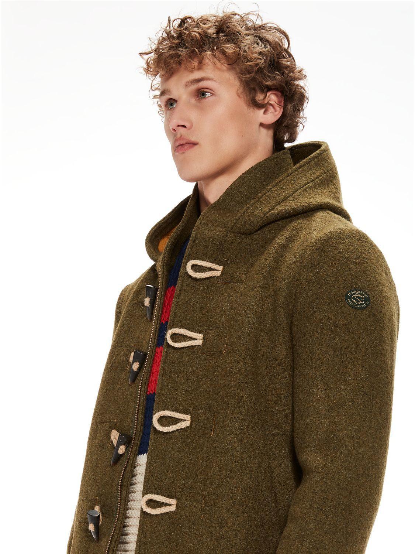 c0b0b875 In Men amp; Wool Duffle Soda Coat For Green Scotch Lyst 6fYwzz