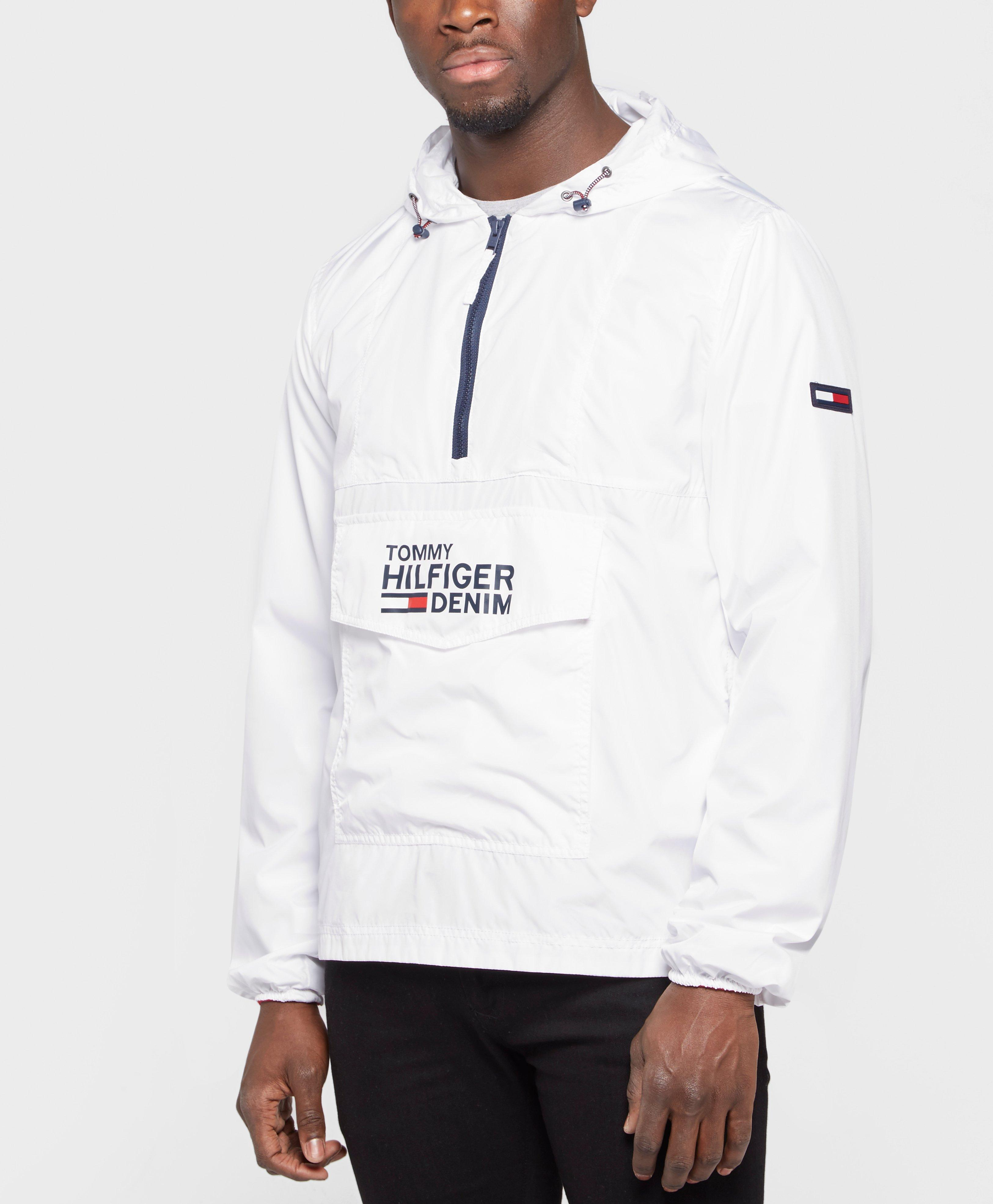 9b47ab00 Tommy Hilfiger Overhead Lightweight Anorak in White for Men - Lyst