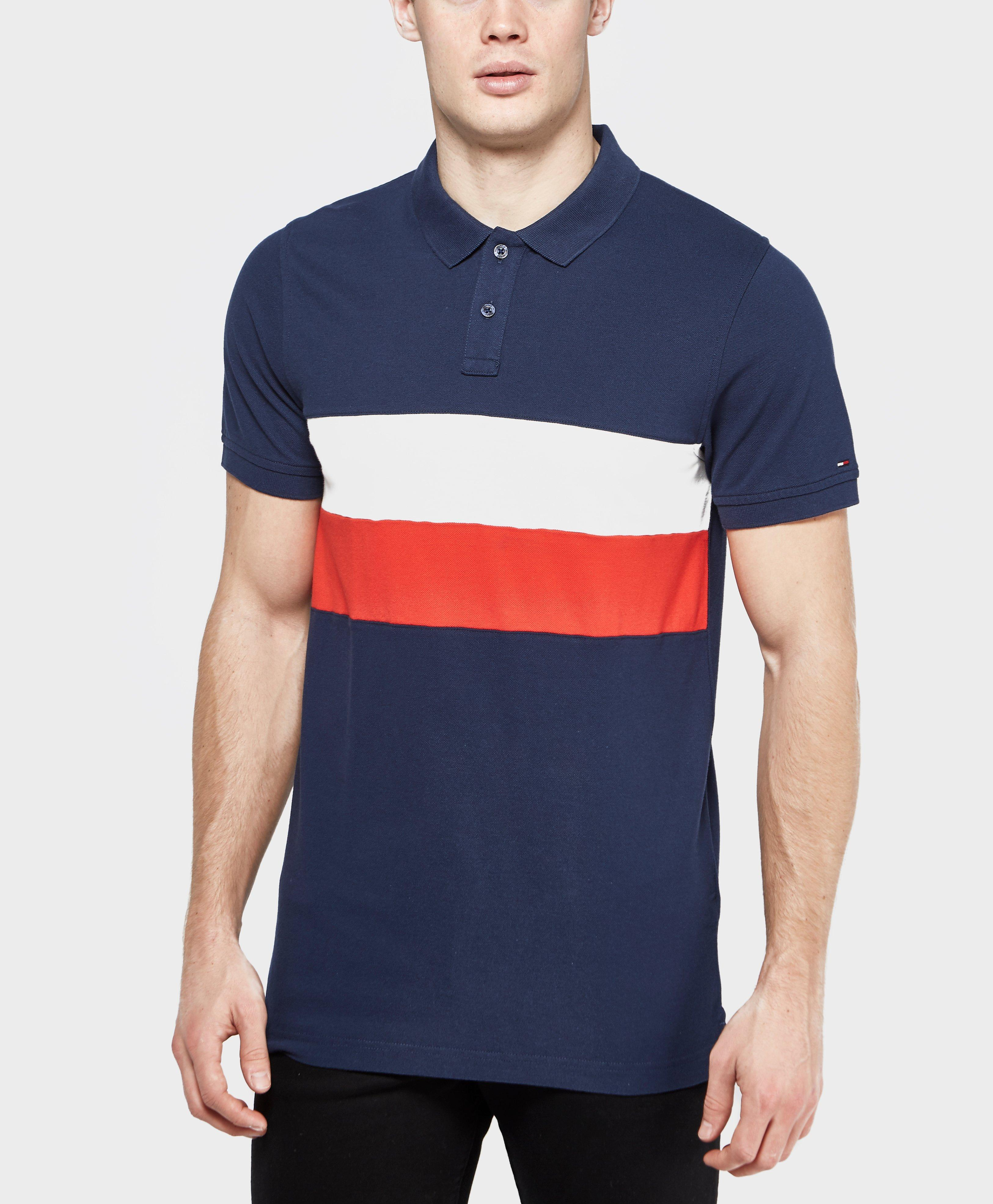 Lyst Tommy Hilfiger Block Flag Polo Shirt In Blue For Men