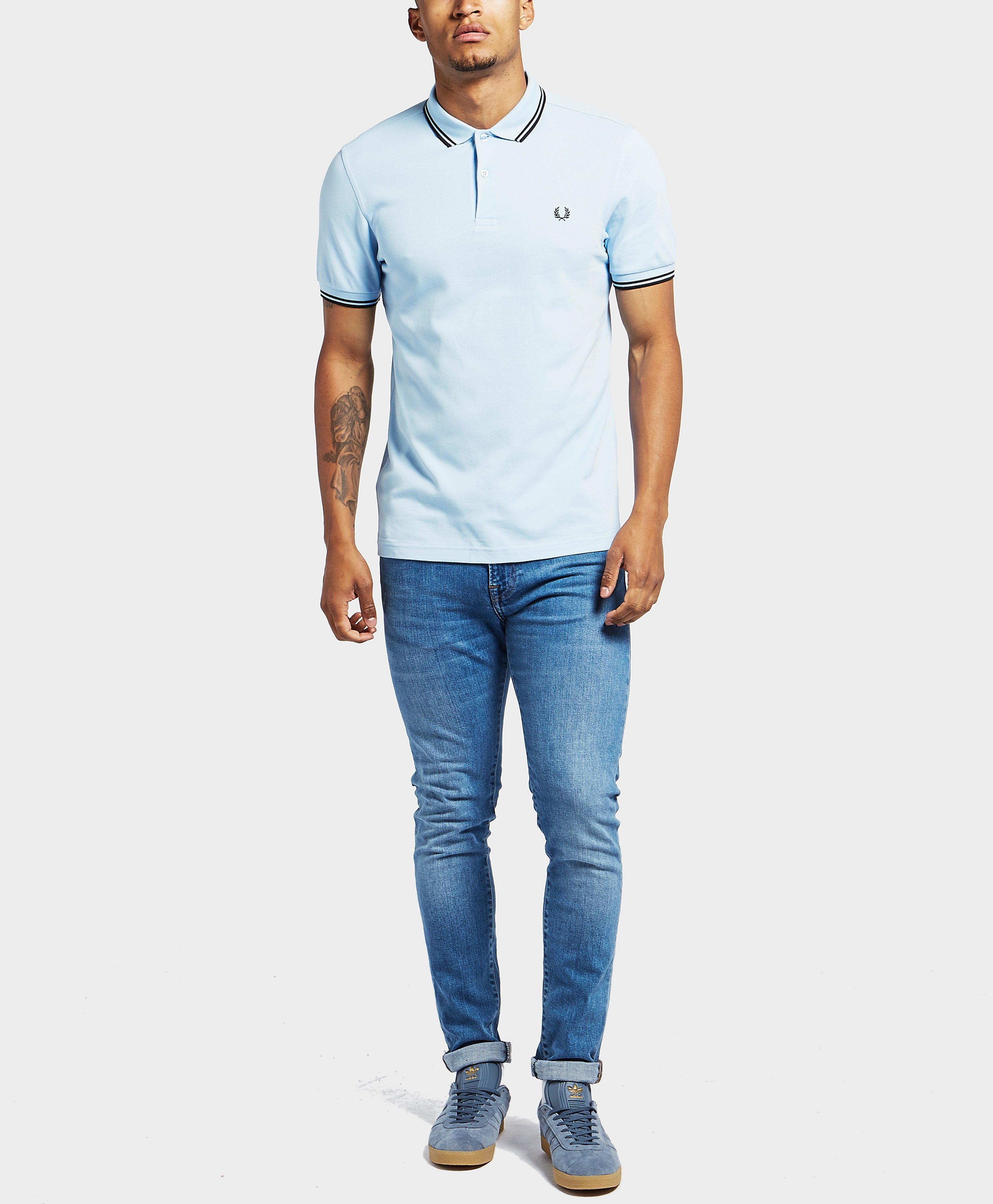 156dc3108 Lyst - Fred Perry Twin Tipped Short Sleeve Polo Shirt in Blue for Men