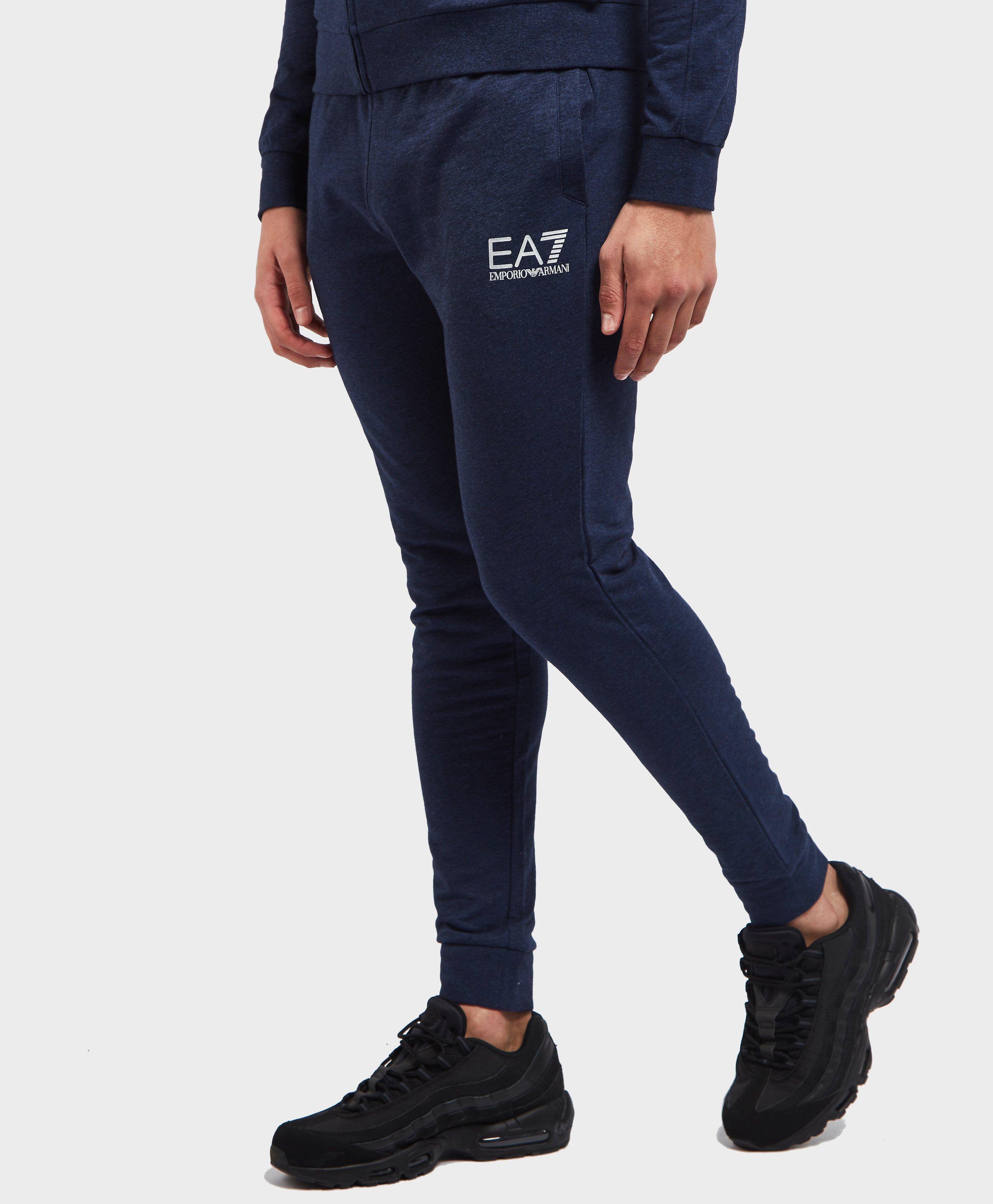 9a597286270e Lyst - Ea7 Core Cuffed Fleece Pants in Blue for Men