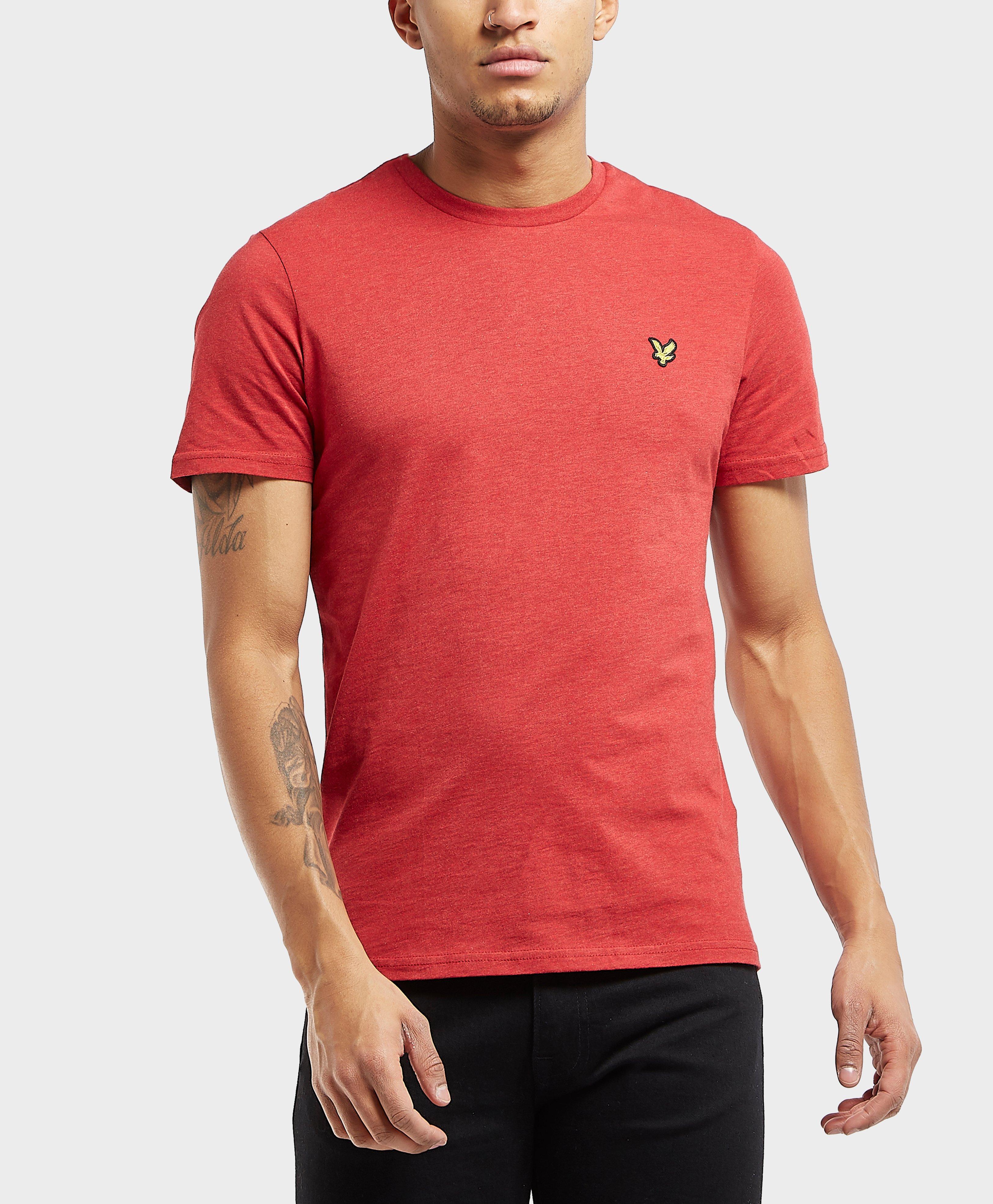 986514d65 Lyst - Lyle & Scott Marl Short Sleeve T-shirt in Red for Men