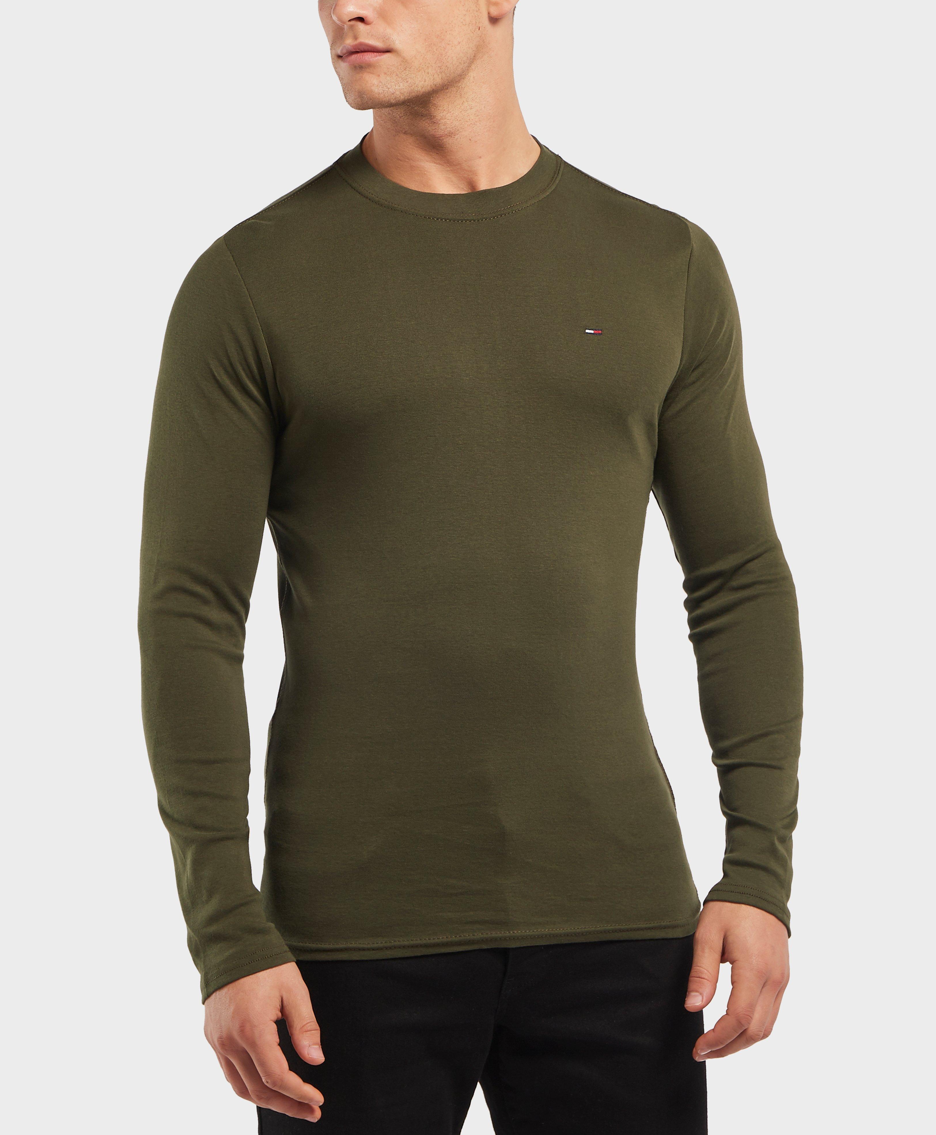 Tommy Hilfiger Long Sleeve Crew T-shirt in Green for Men - Lyst 86c3b42af9