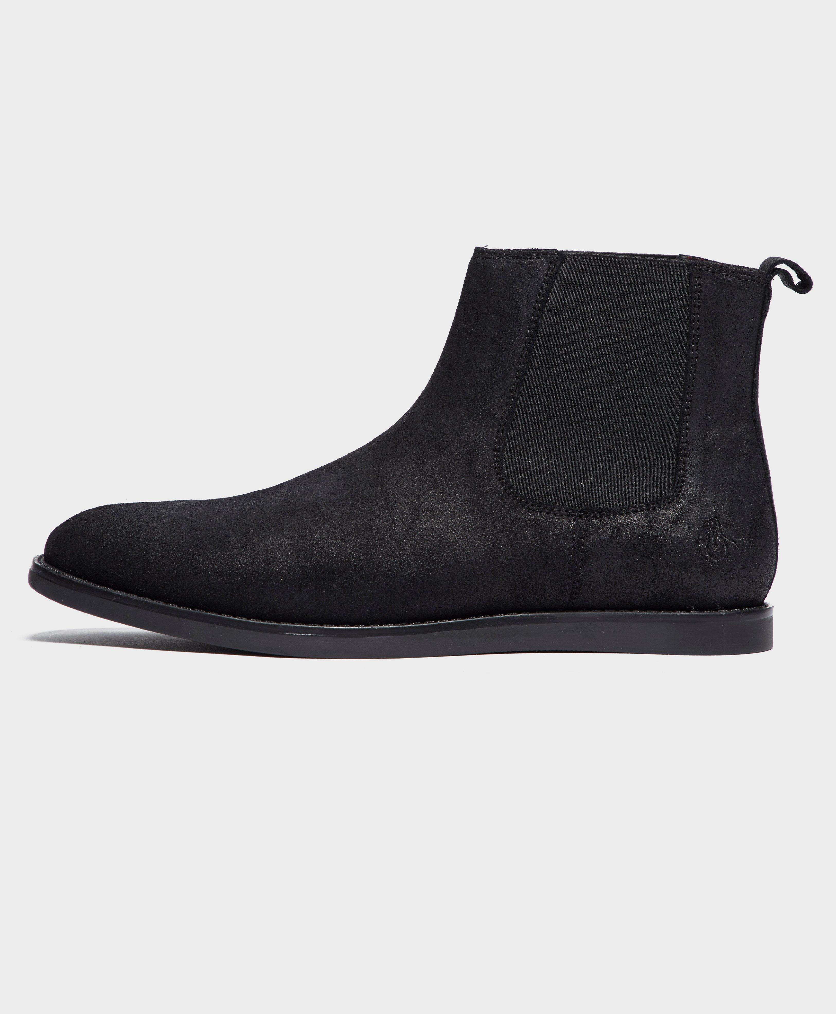 Original Penguin London Chelsea Boots In Black