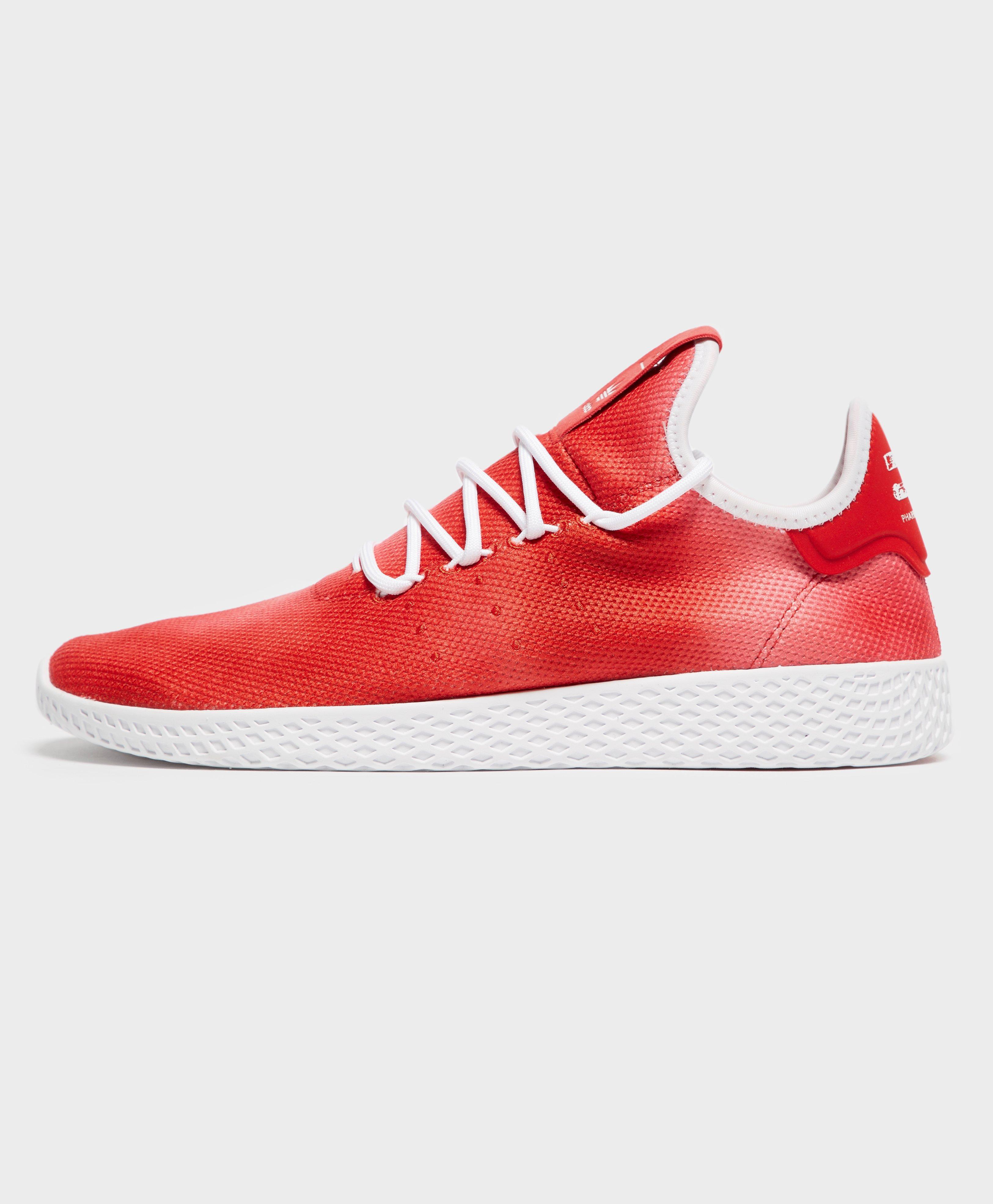 adidas OriginalsPW TENNIS HU - Trainers - footwear white/collegiate burgundy sTZCra