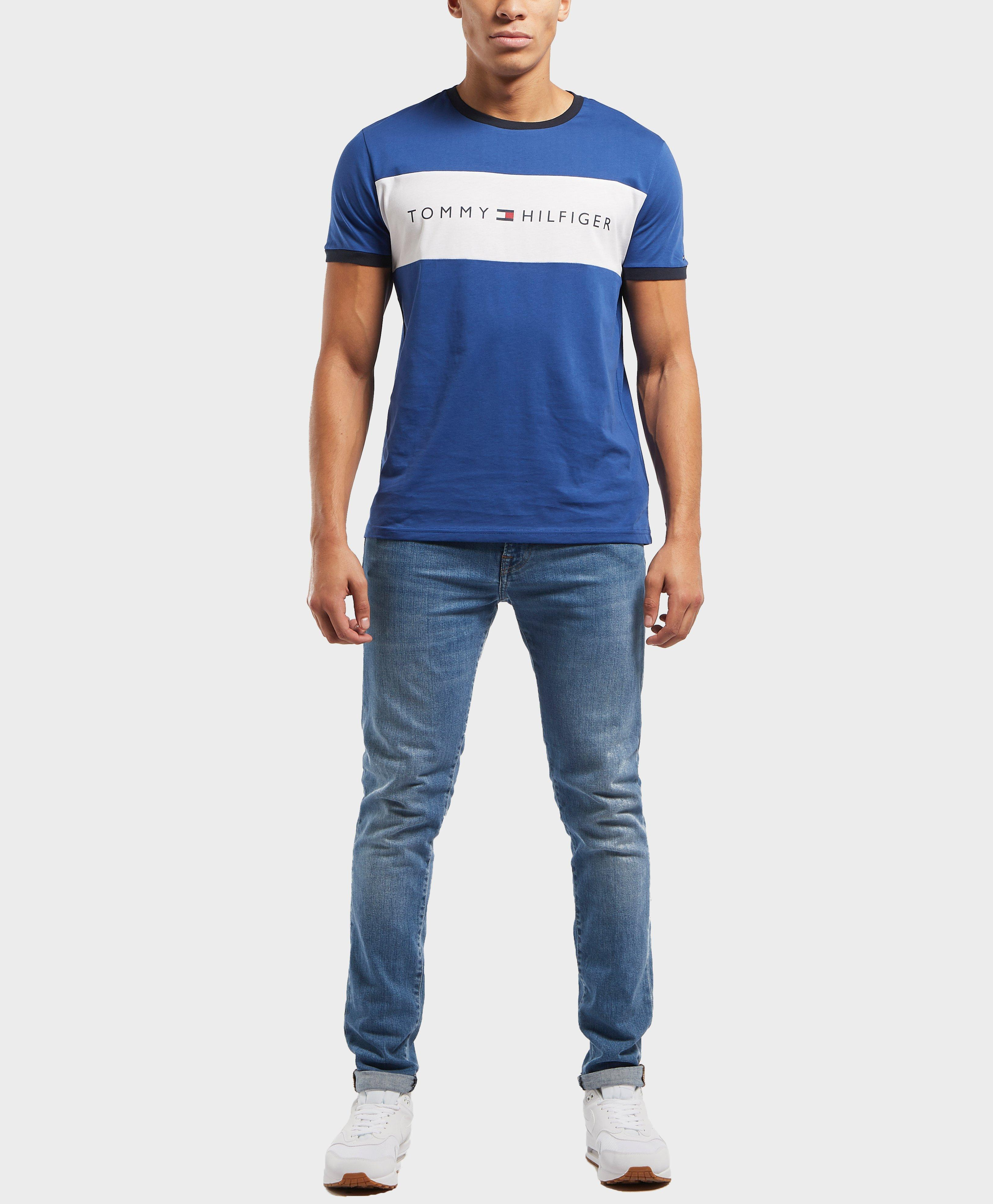 15fe3493dfb Tommy Hilfiger Cut And Sew Logo Short Sleeve T-shirt in Blue for Men ...
