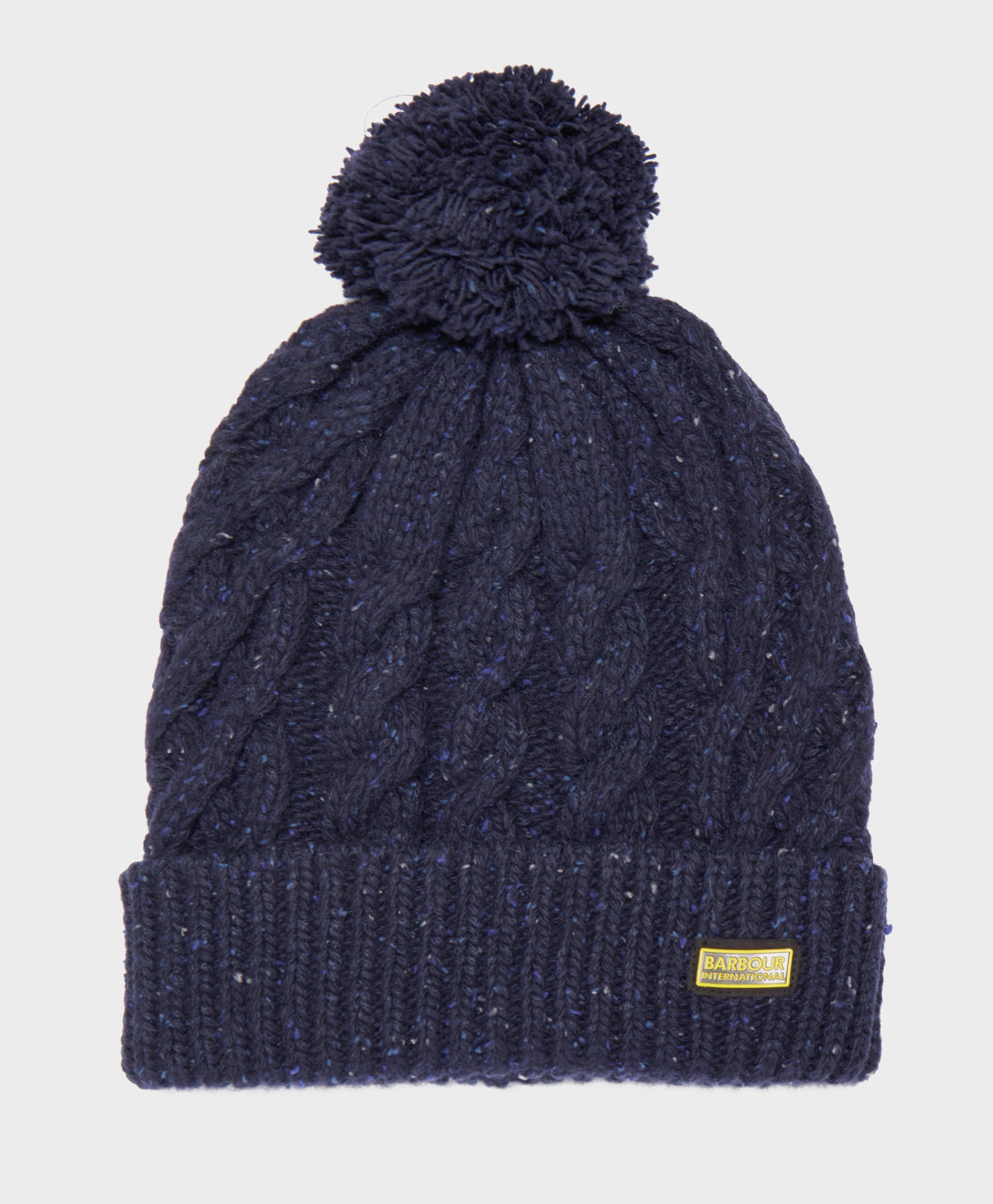426dbd9865de22 ... order barbour. mens blue international bobble hat 7edef d824d