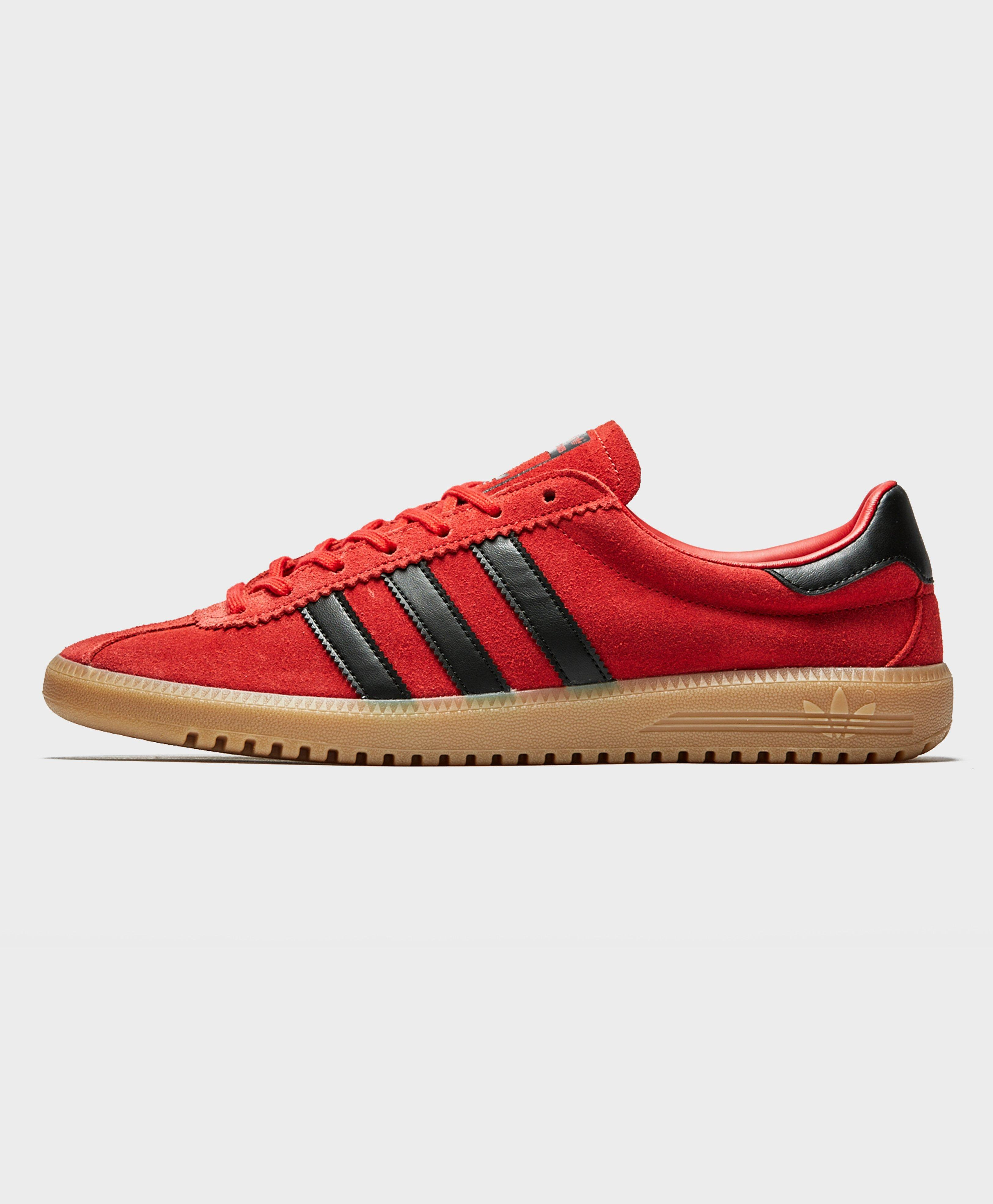 low priced 73e23 3a083 adidas Originals Bermuda Scarlet Red  Black Trainers in Red
