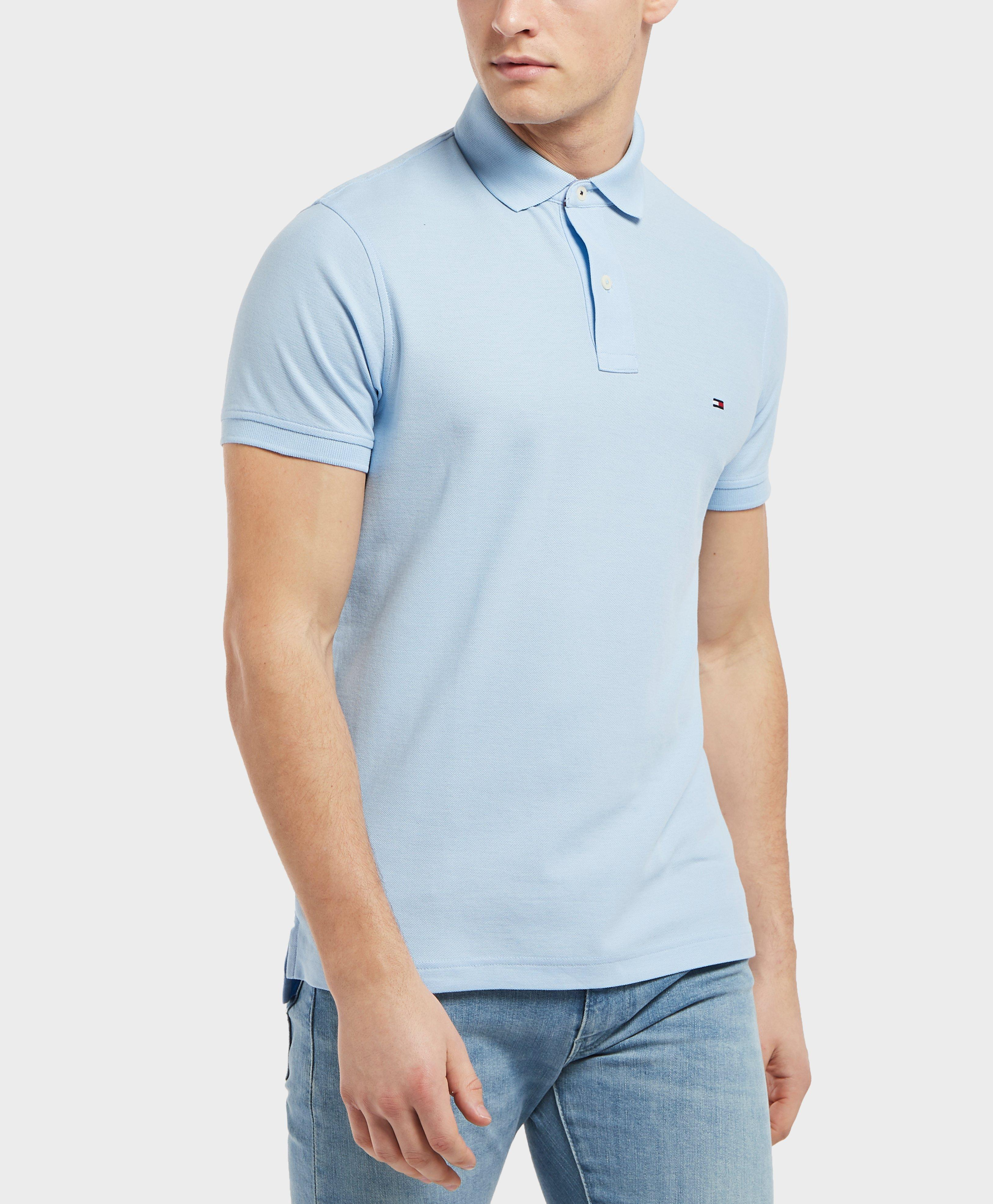 35a6456805a Tommy Hilfiger Core Short Sleeve Slim Polo Shirt in Blue for Men - Lyst