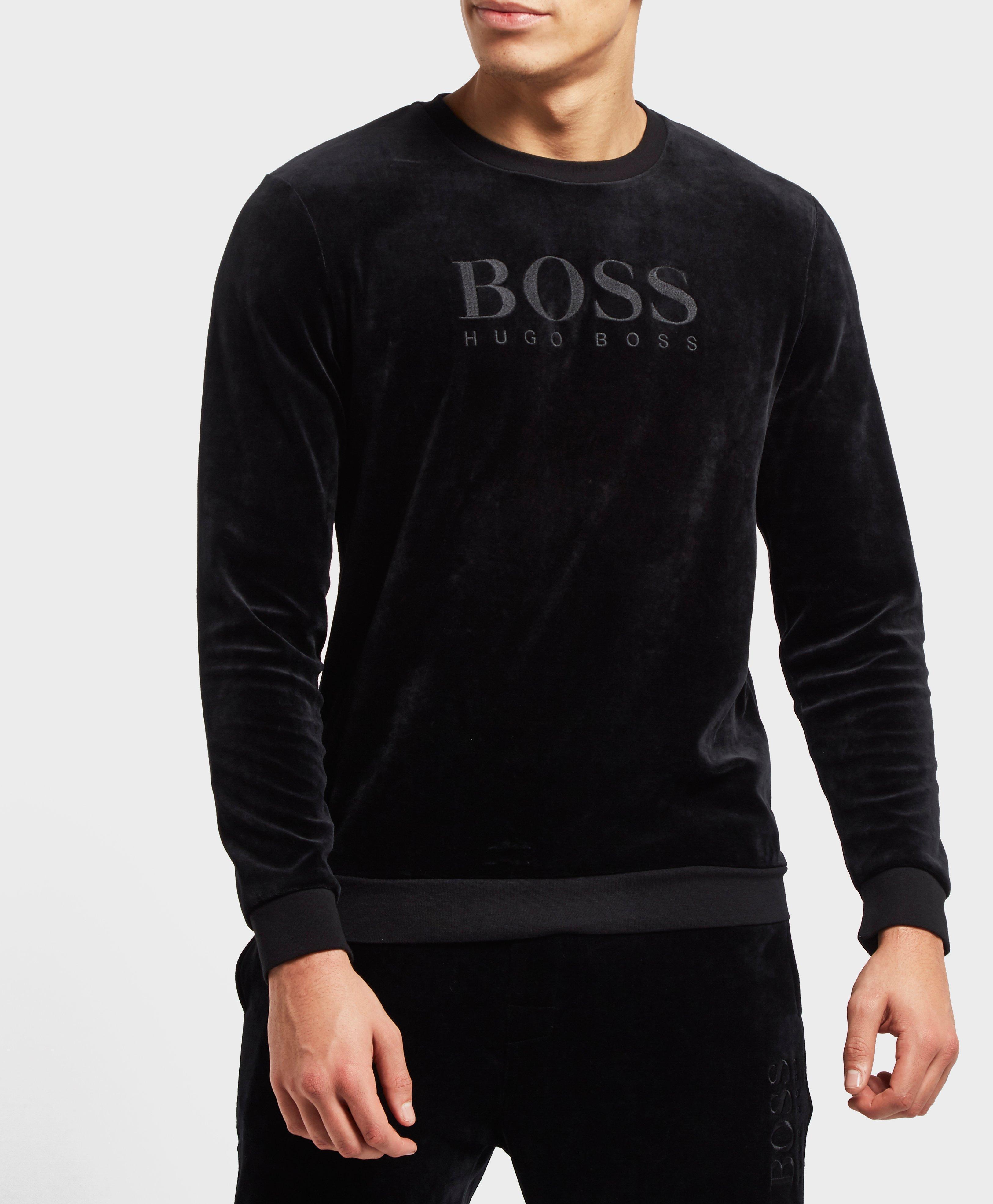 f5410c37 Clothing, Shoes & Jewelry BOSS Authentic Crew Neck Sweat Top in Black HUGO  BOSS AUTHENTIC SWEATSHIRT 50392056