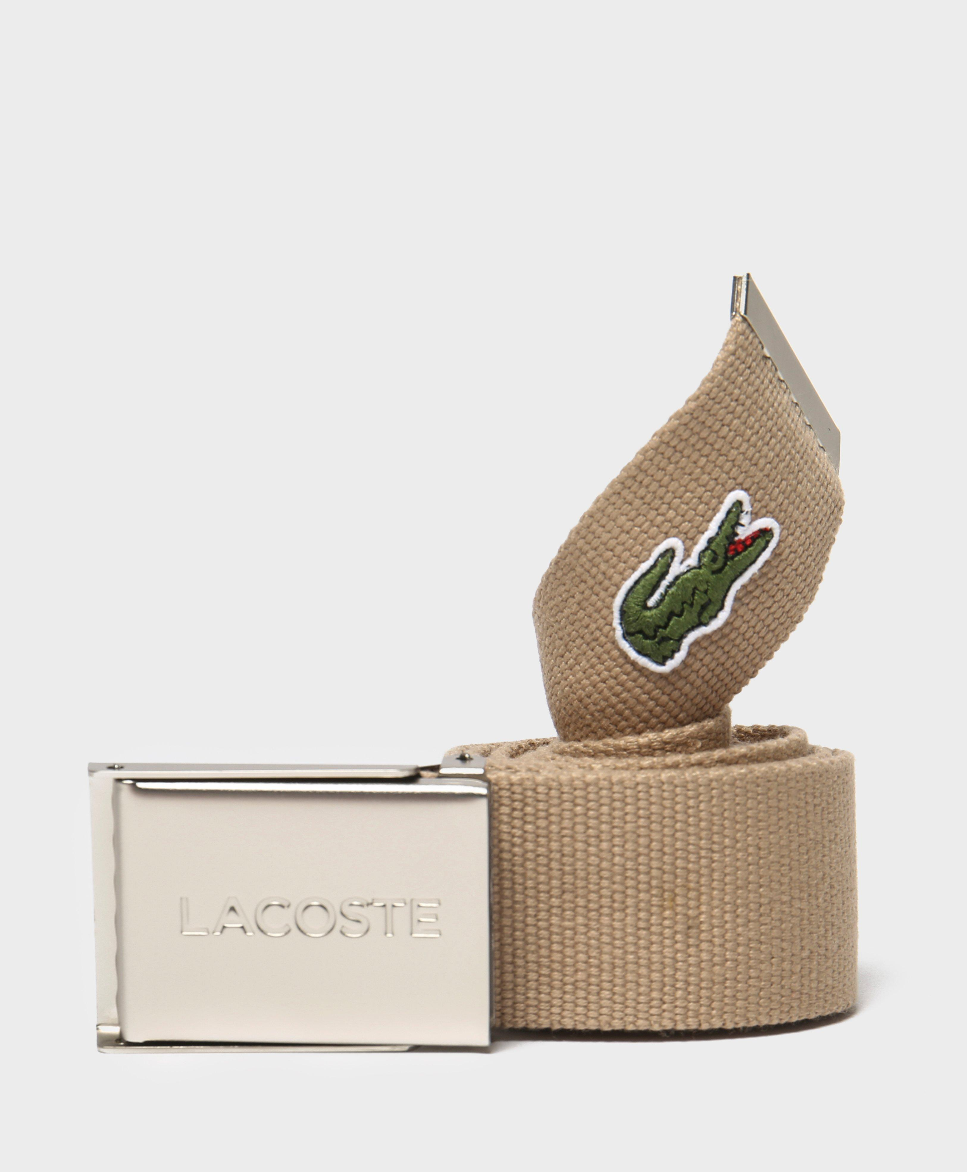 74446153cb05e6 Lyst - Lacoste Croc Belt for Men