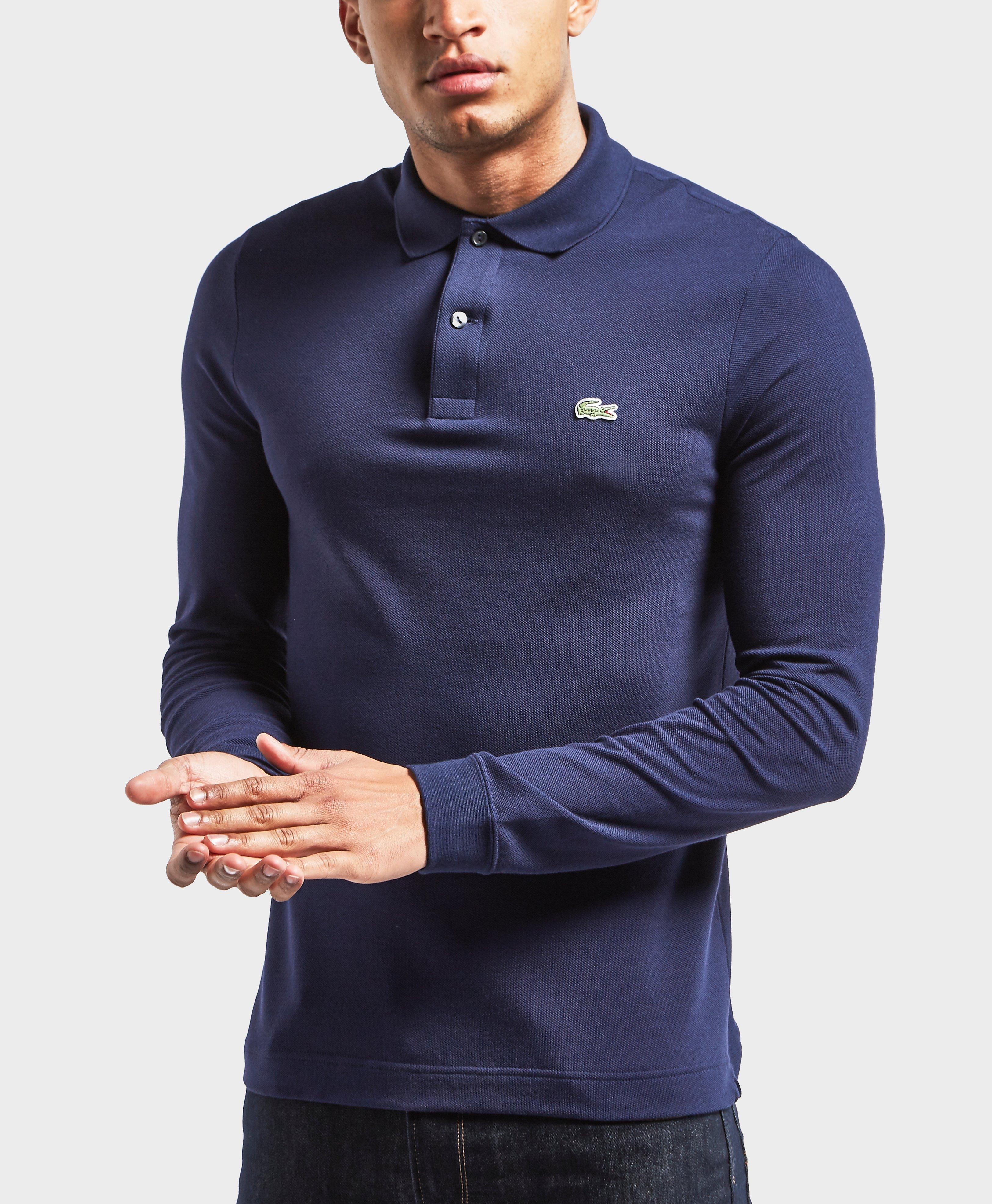 375a03d535c5 Lyst - Lacoste Slim Fit Long Sleeve Polo Shirt in Blue for Men