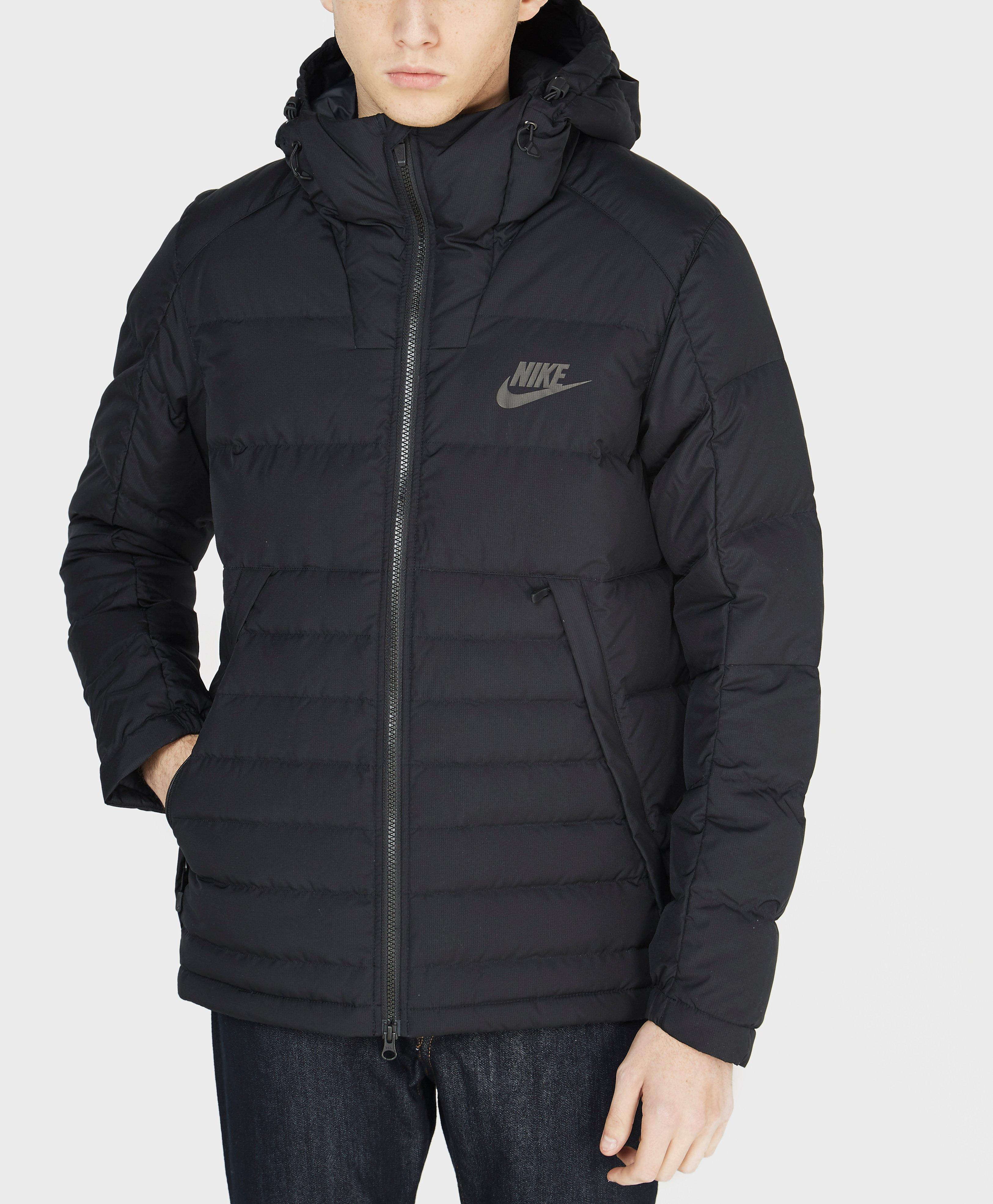 35a624b70f53 Nike Padded Down Jacket in Black for Men - Lyst