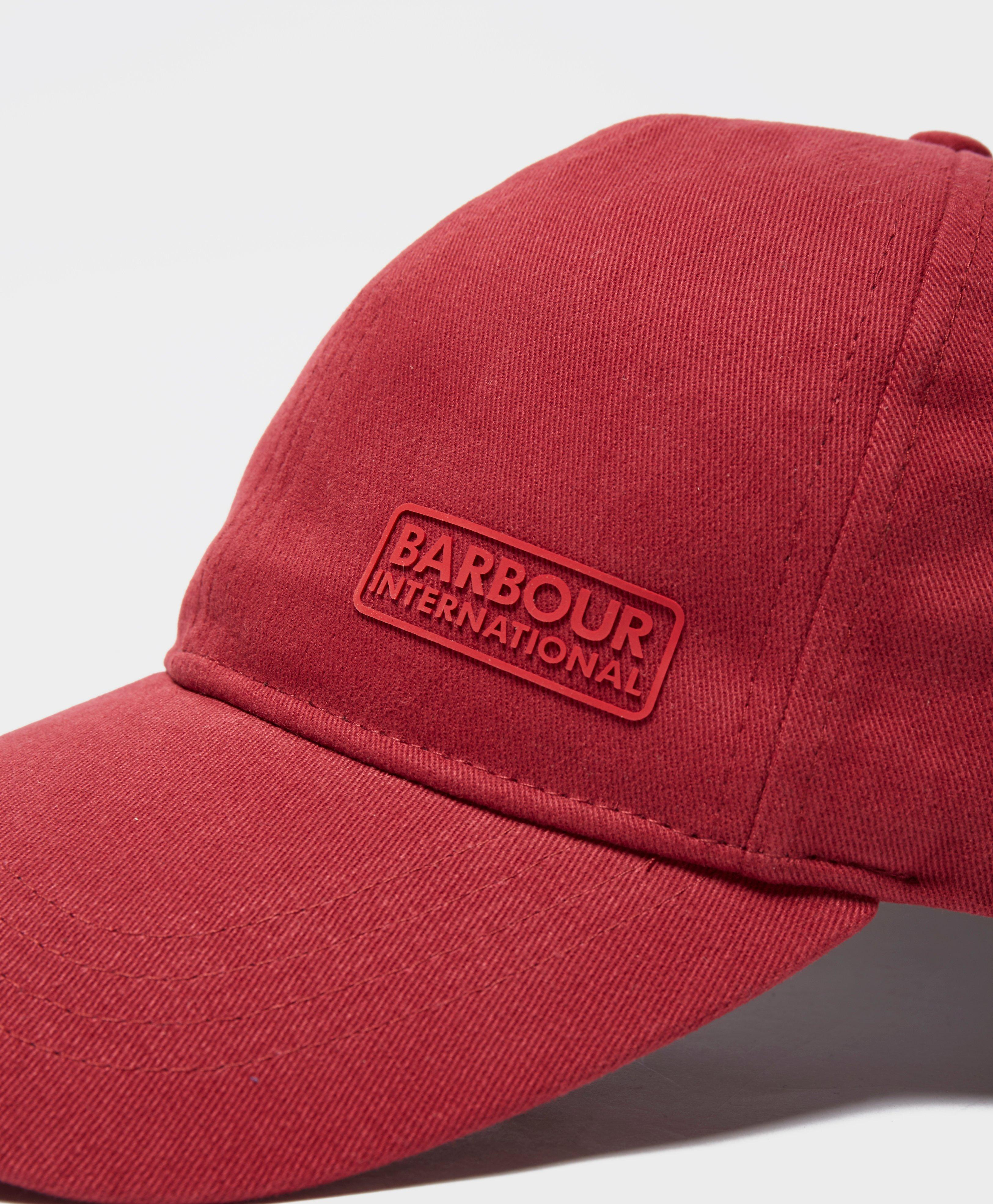 4ab4c9e5c26 Barbour International Norton Drill Cap in Red for Men - Lyst