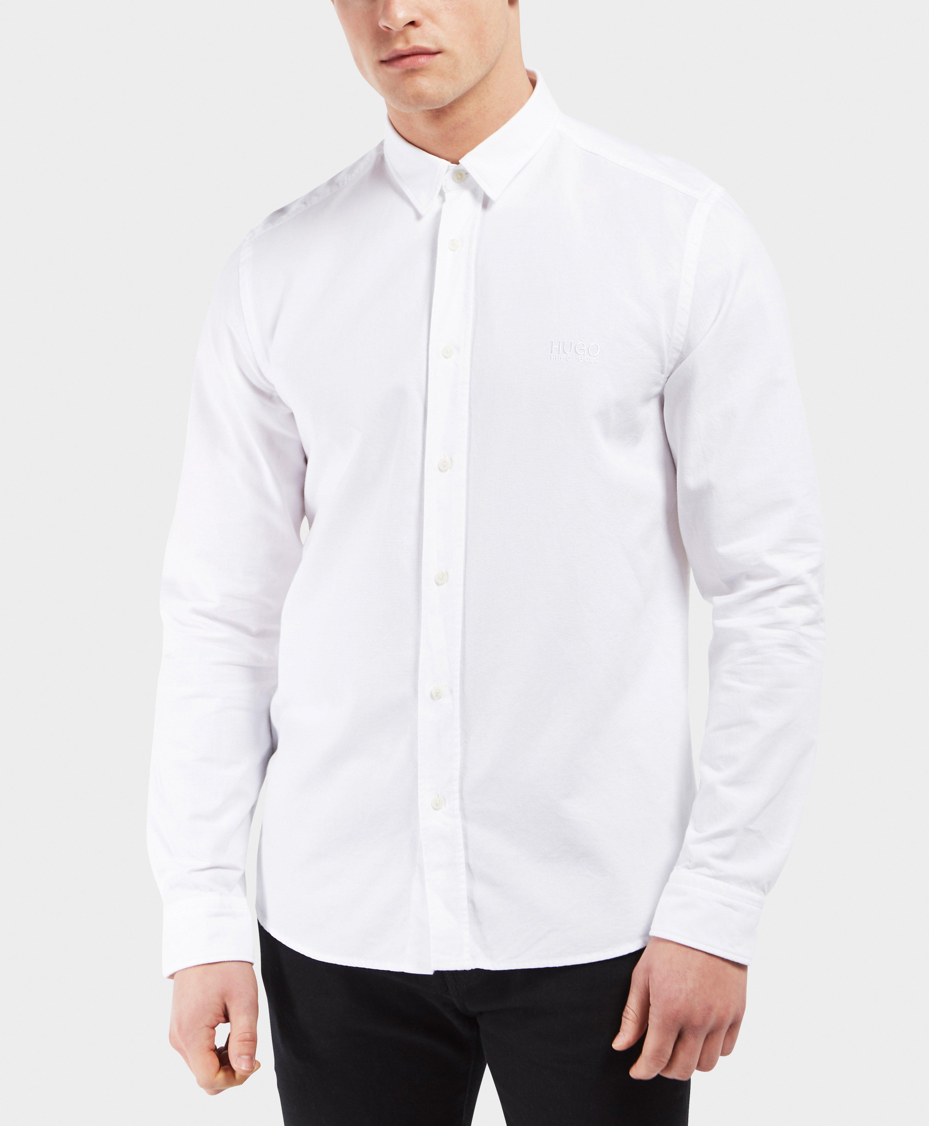 575cf08d Lyst - HUGO Evory Long Sleeve Shirt in White for Men