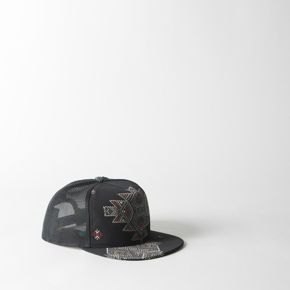 a7a01c941539d7 Lyst - Superduper Hats Fresh Trucker Crepe In Mexican Print On Black ...