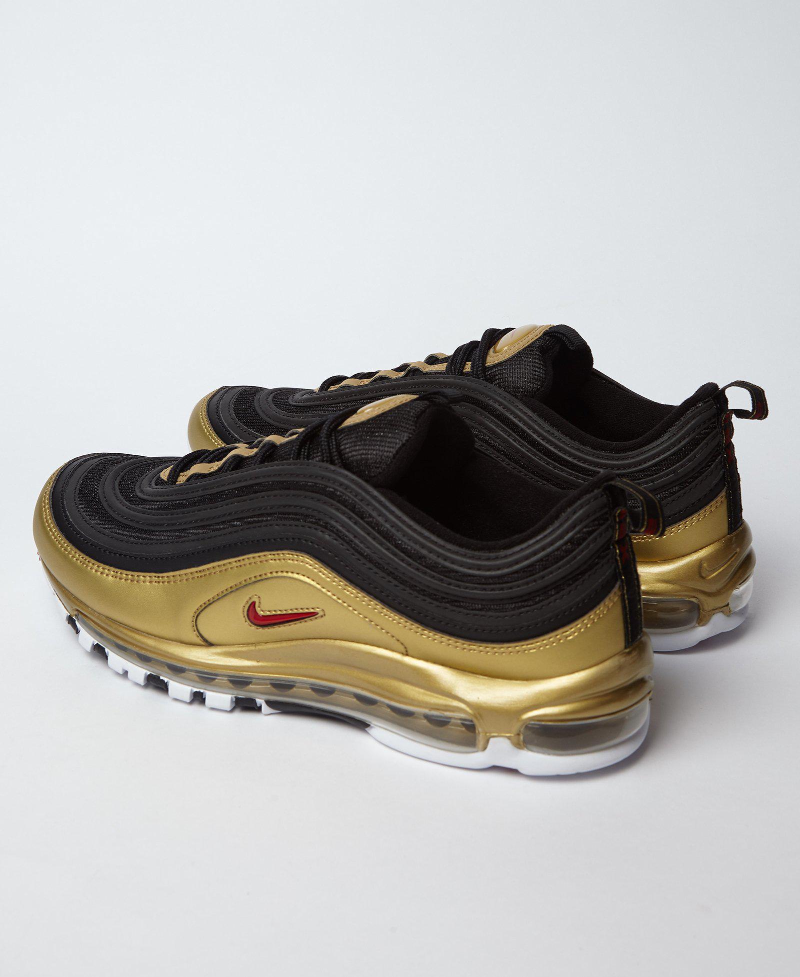 Mens Nike Air Max 97 OG QS Black White Amarillo 921522 005