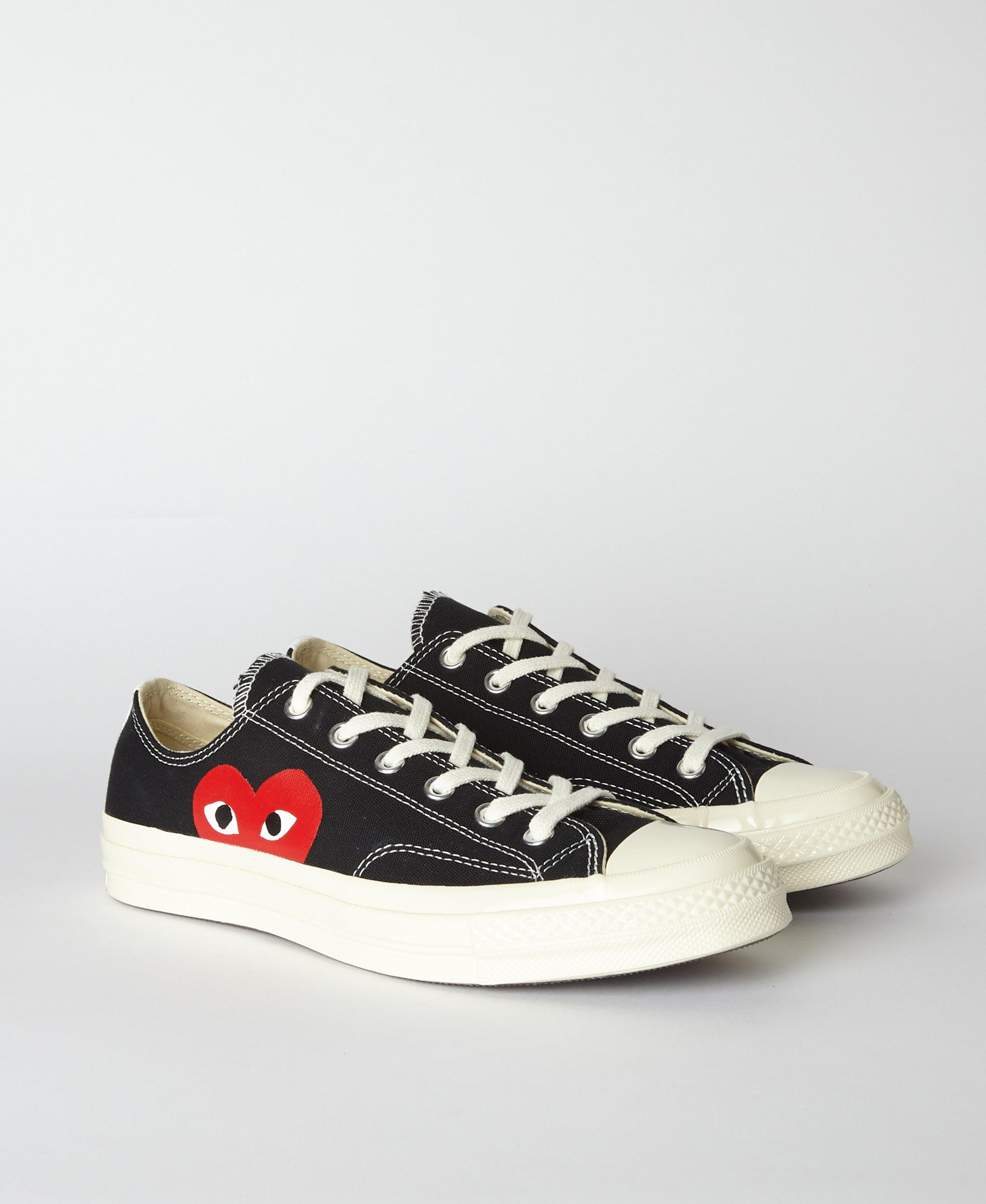 COMME DES GARÇONS PLAY Black Play X Converse 70s Chuck Taylor All Star Low  in Black for Men - Save 23% - Lyst 87219af36
