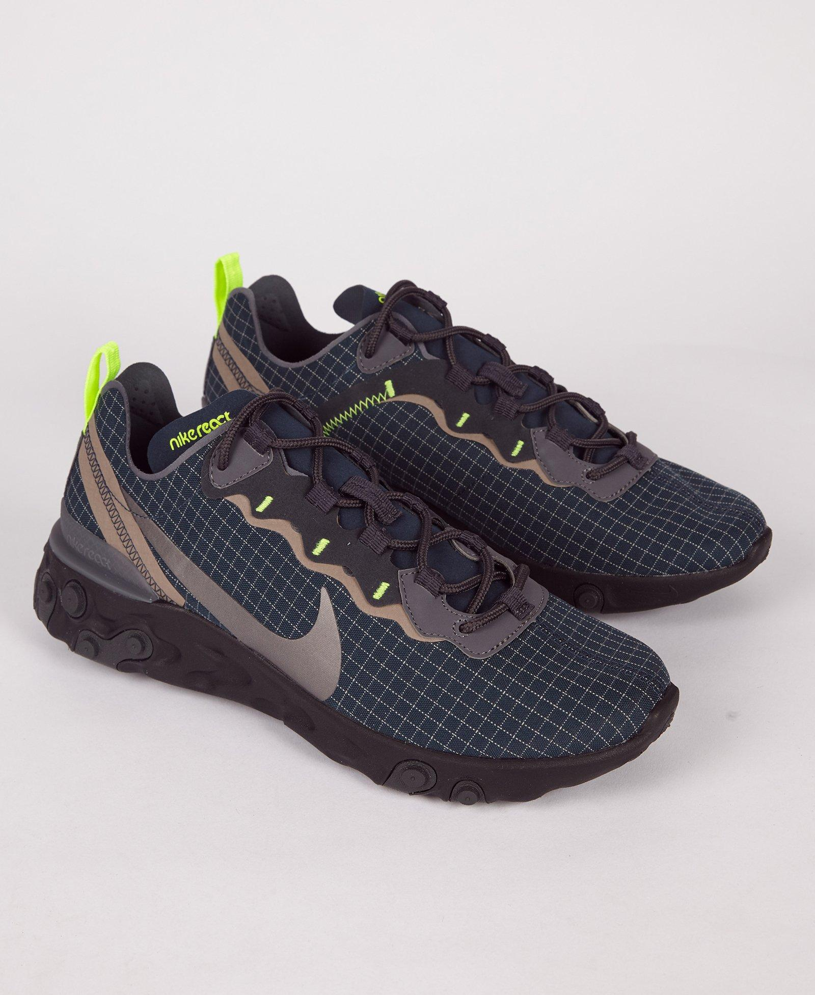 546bb8fa13e1 Lyst - Nike React Element 55 Armory Navy   Grey for Men